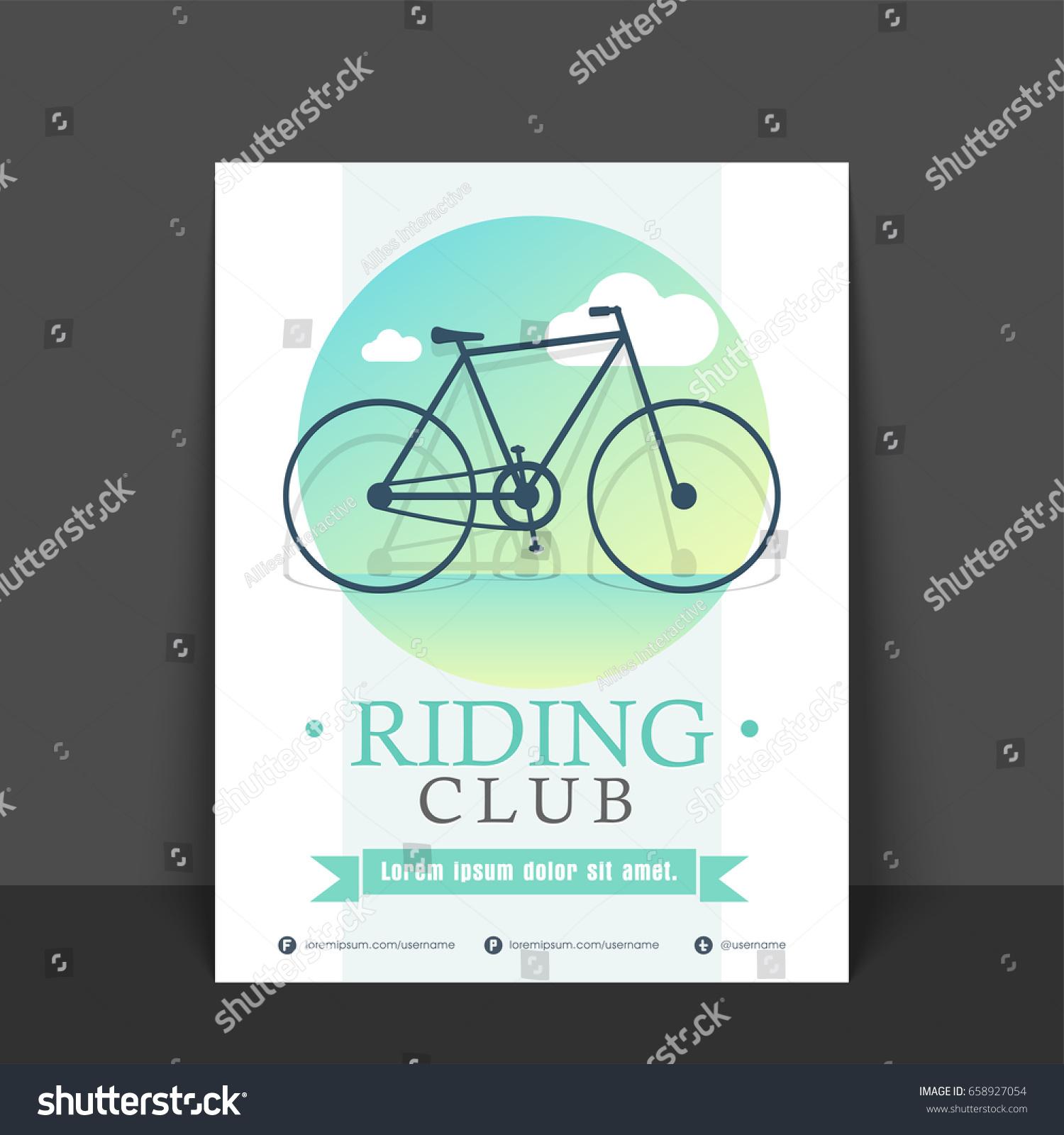 riding club flyer template banner design のベクター画像素材
