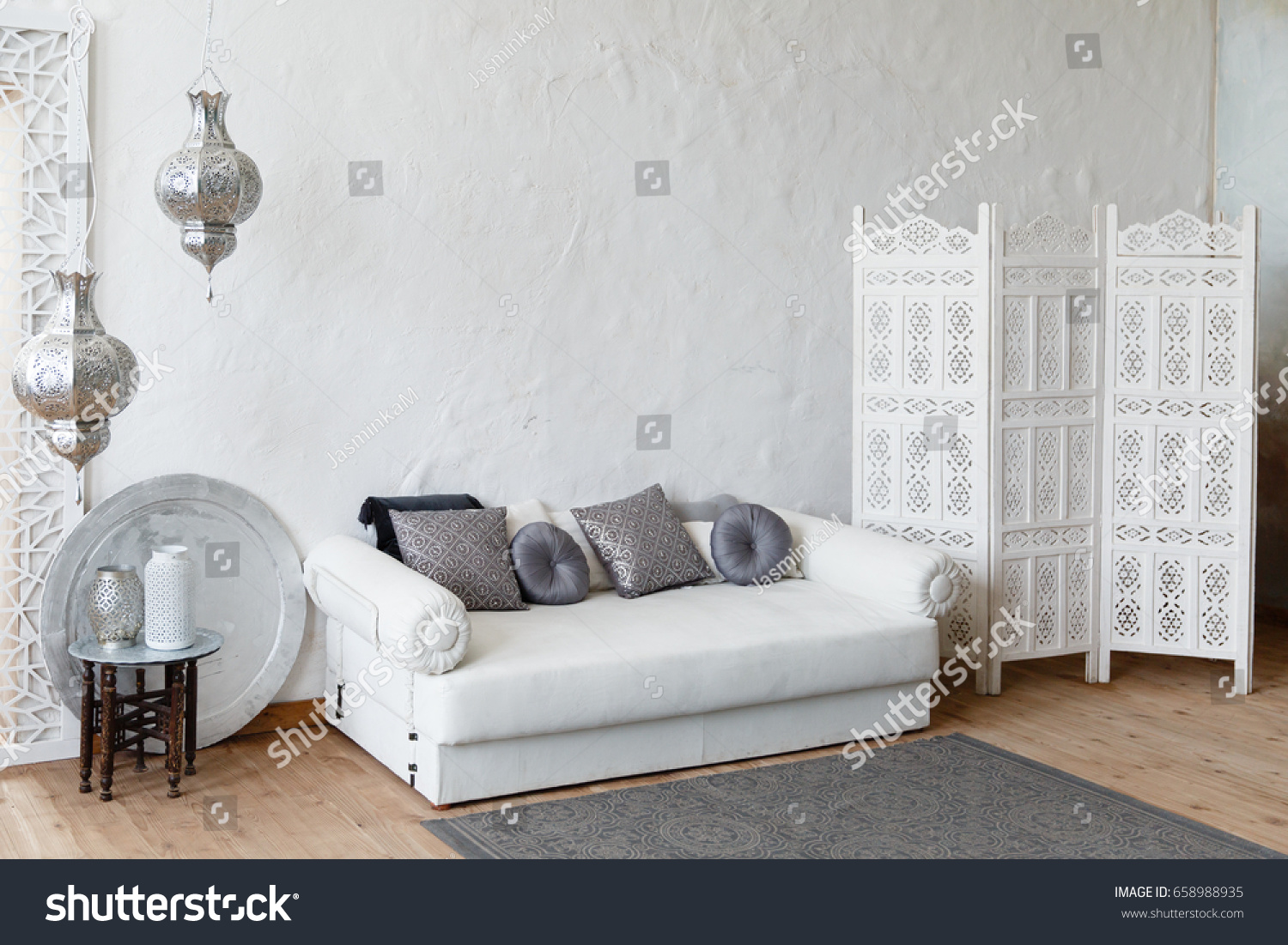 Eastern Traditional Interior Morocco Style Room Stock Photo & Image ...