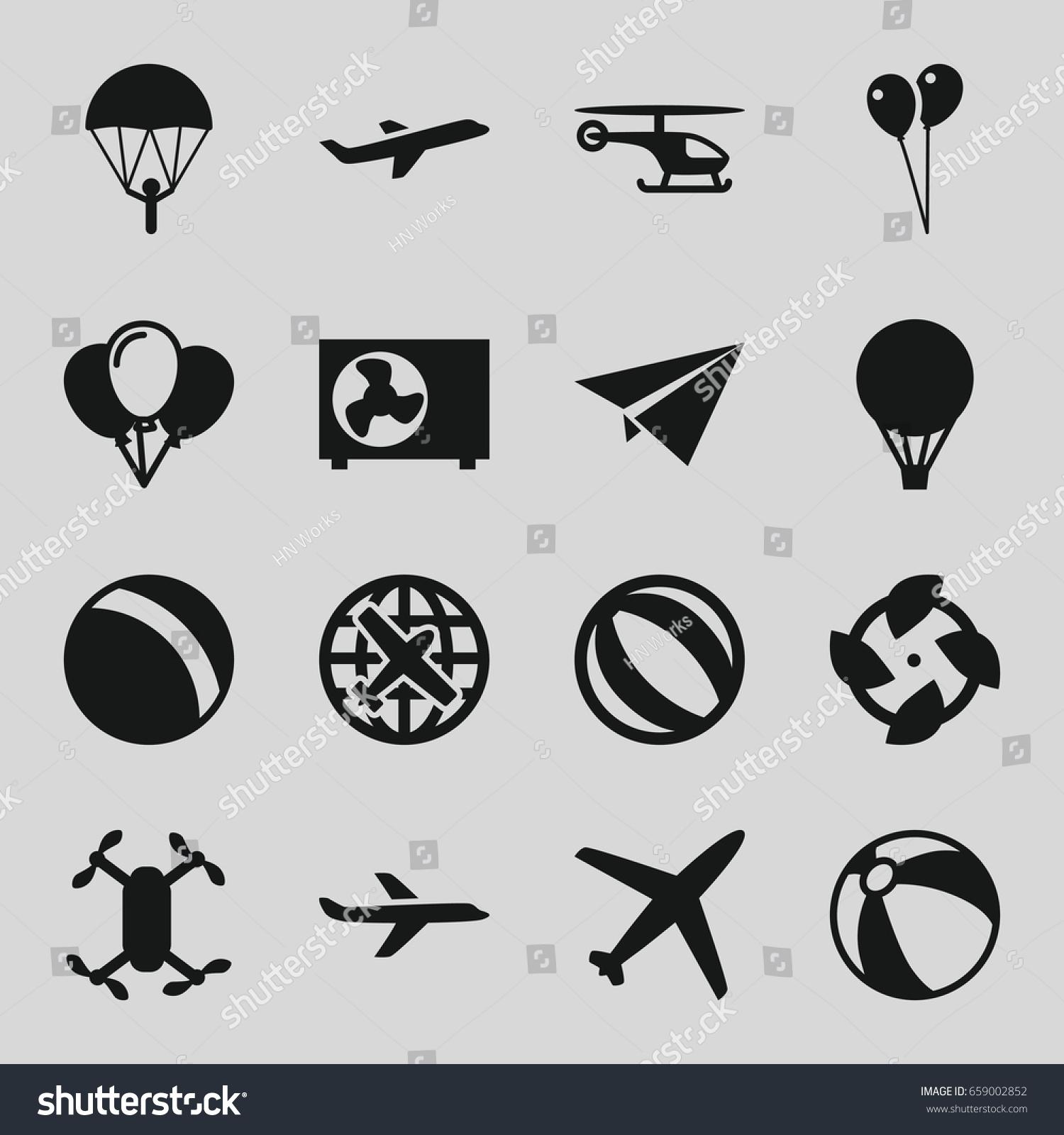 air icons set set 16 air เวกเตอร สต อก 659002852 shutterstock