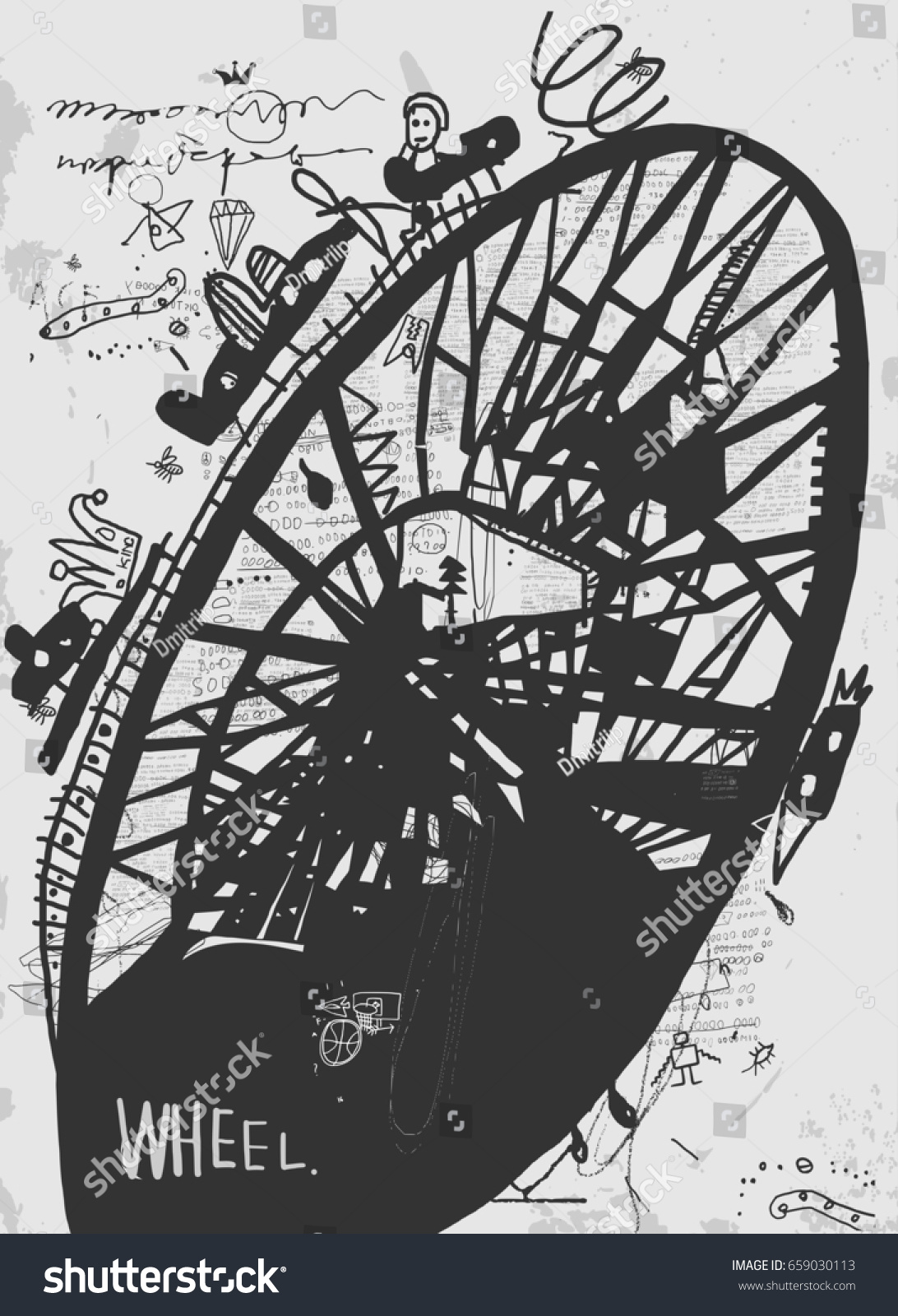 Symbolic image construction which called ferris stock illustration the symbolic image of the construction which is called the ferris wheel biocorpaavc