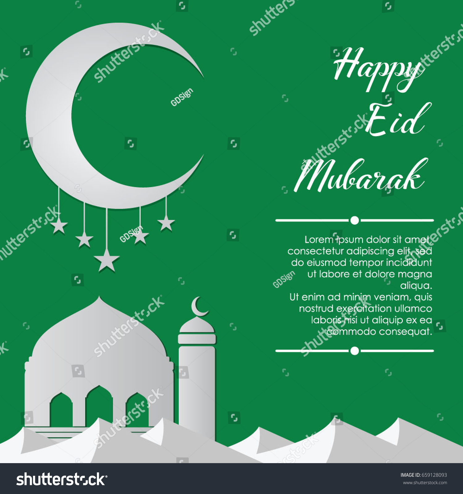 Muslim eid al fitr greeting banners stock vector 659128093 muslim eid al fitr greeting banners green islamic vector illustration kristyandbryce Images