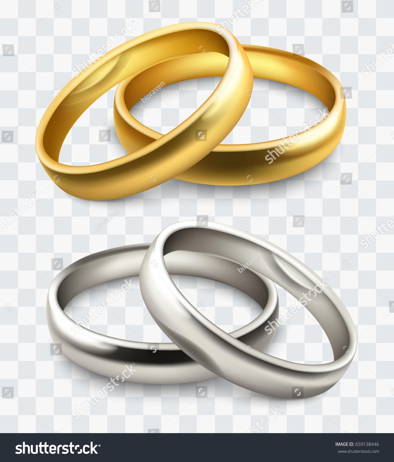 Vector Wedding Rings Stock Vector 659138446 Shutterstock