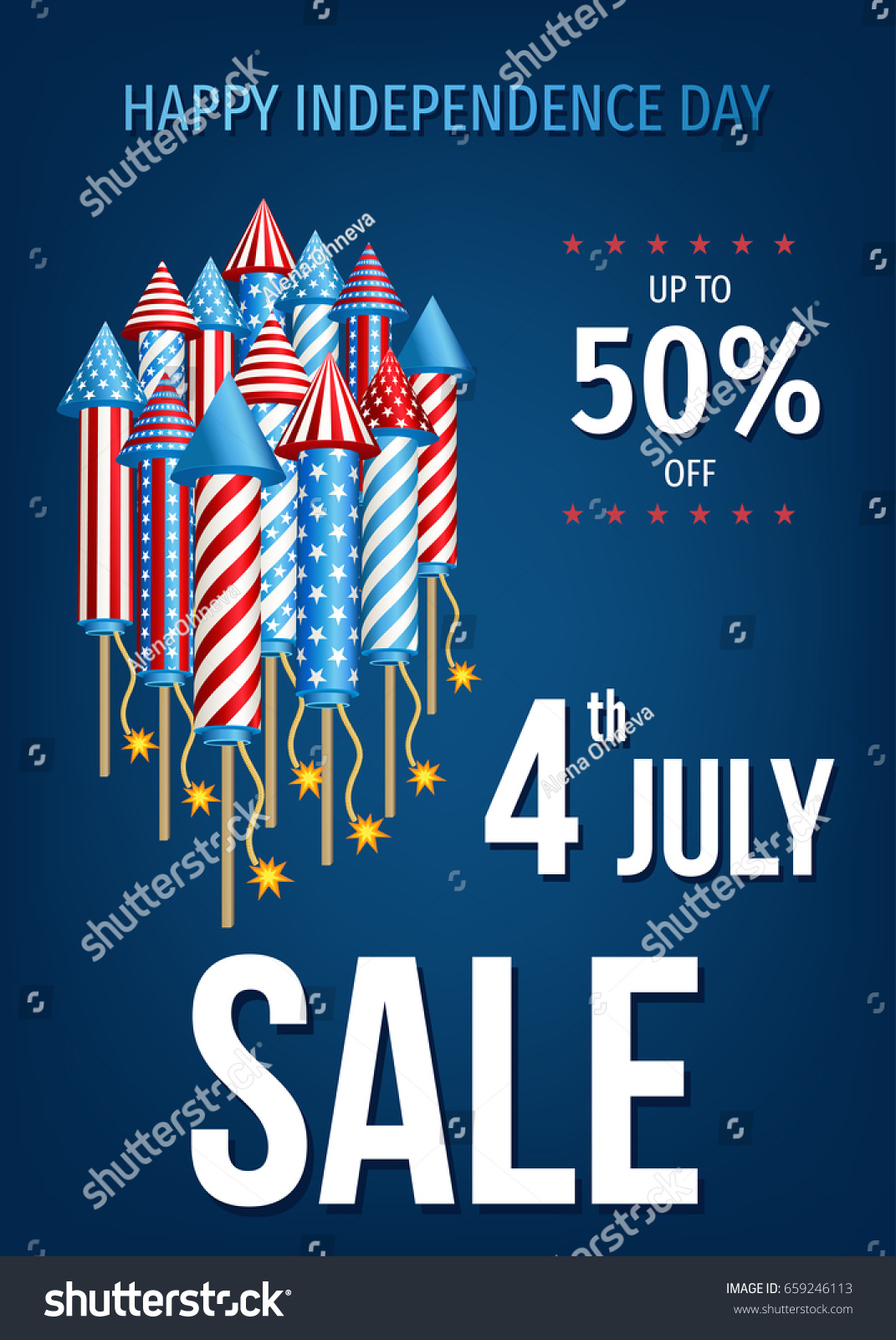 4th July Usa Happy Independence Day Stock Vector 659246113 ...