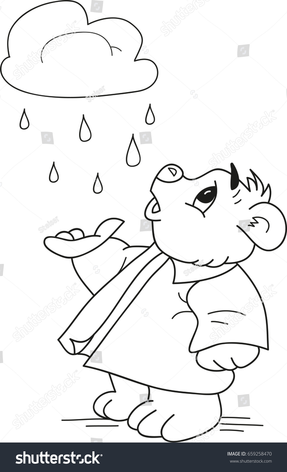Rain Drops Coloring Book - Worksheet & Coloring Pages