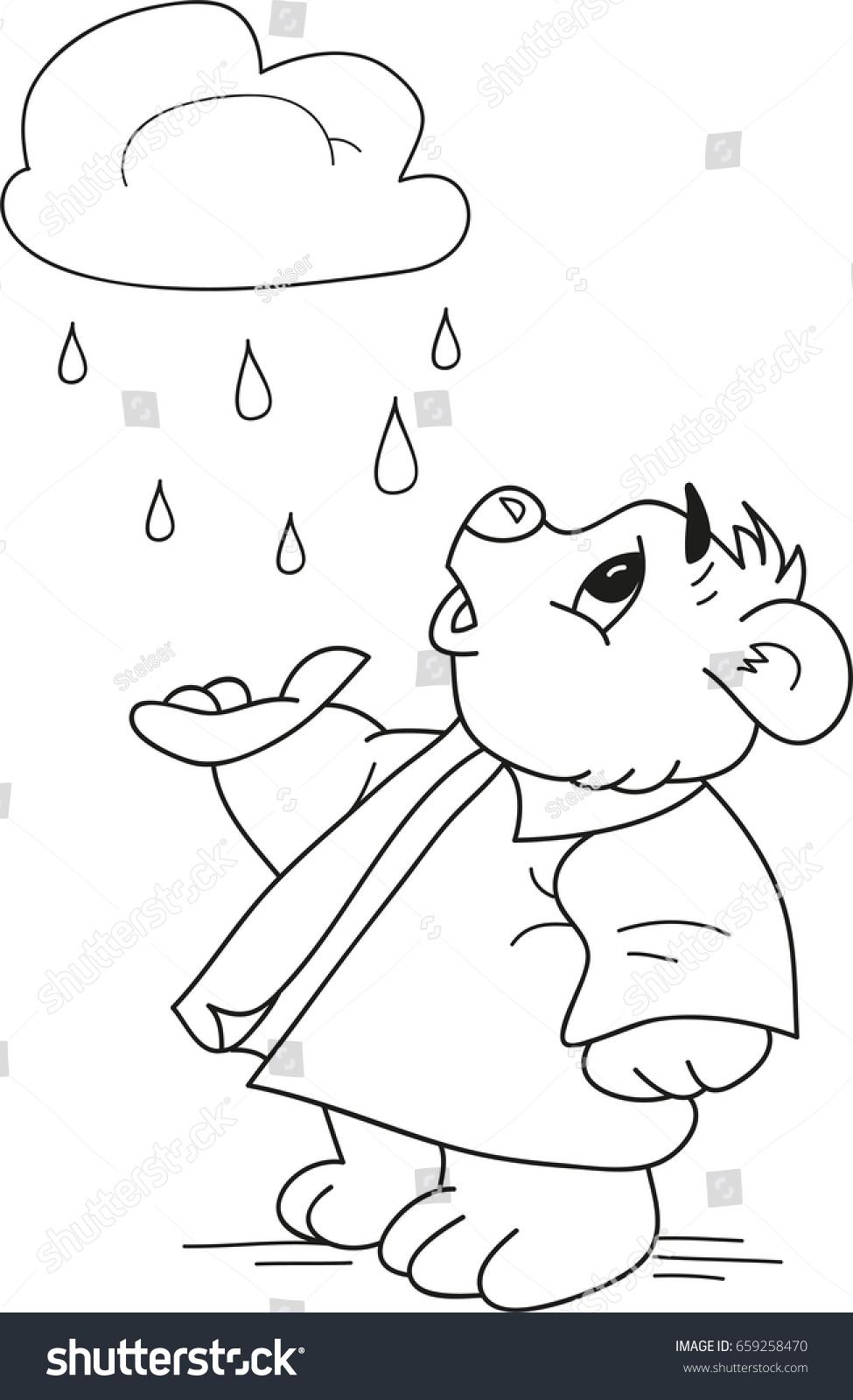 Rain Drops Coloring Book - Worksheet & Coloring Pages