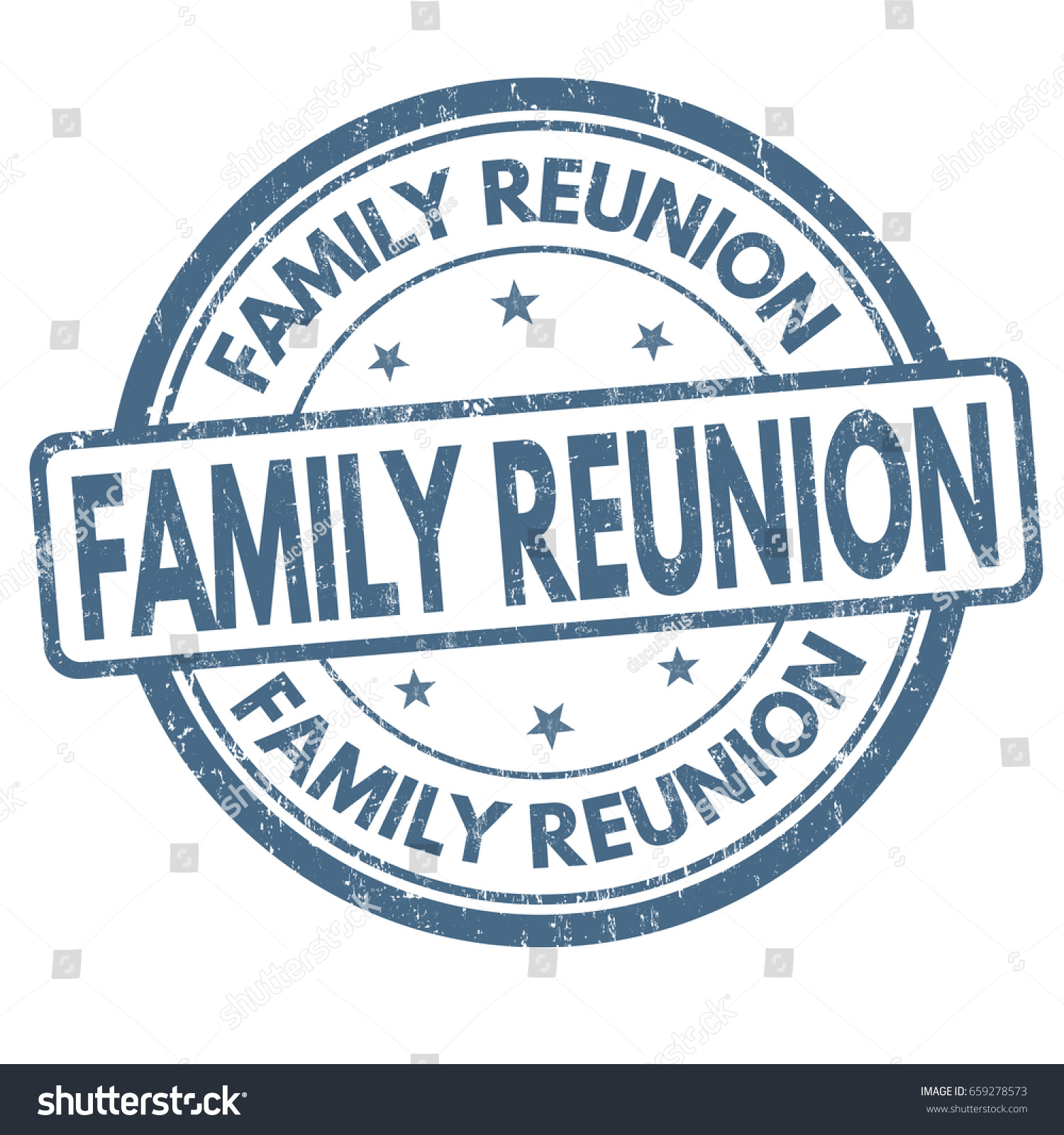 Family Reunion Sign Stamp On White Stock Vector Royalty Free