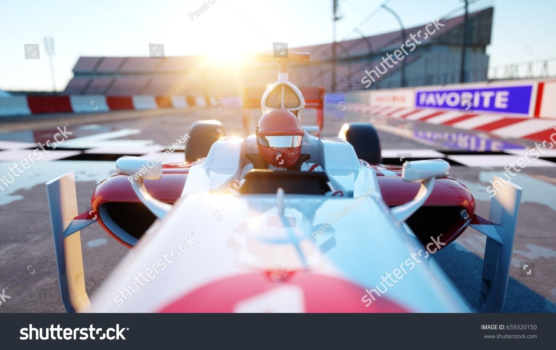 racer formula 1 racing car race stock illustration 659320150