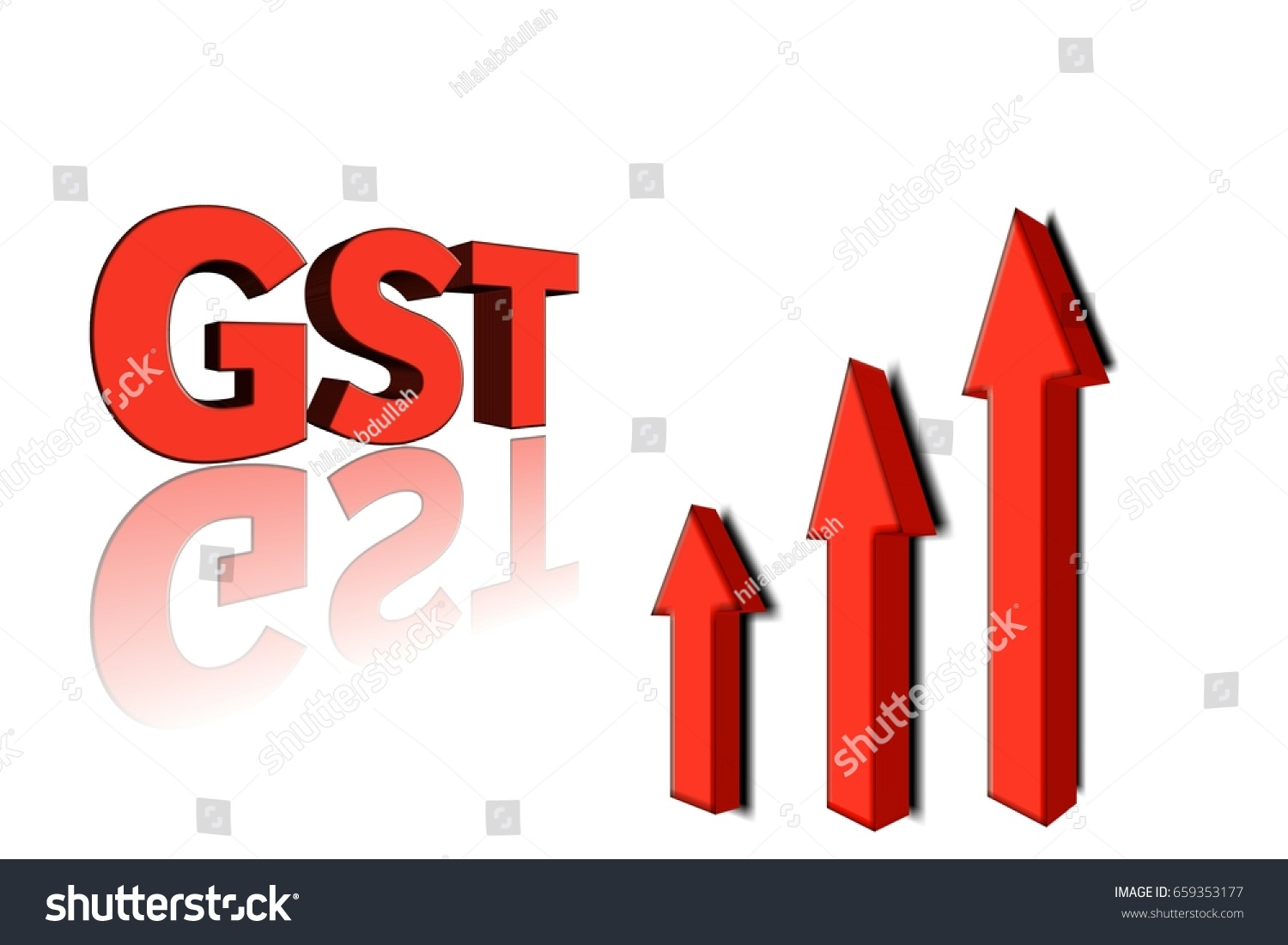 Royalty Free Stock Illustration Of Gst Word 3 D Letters 3 Arrow