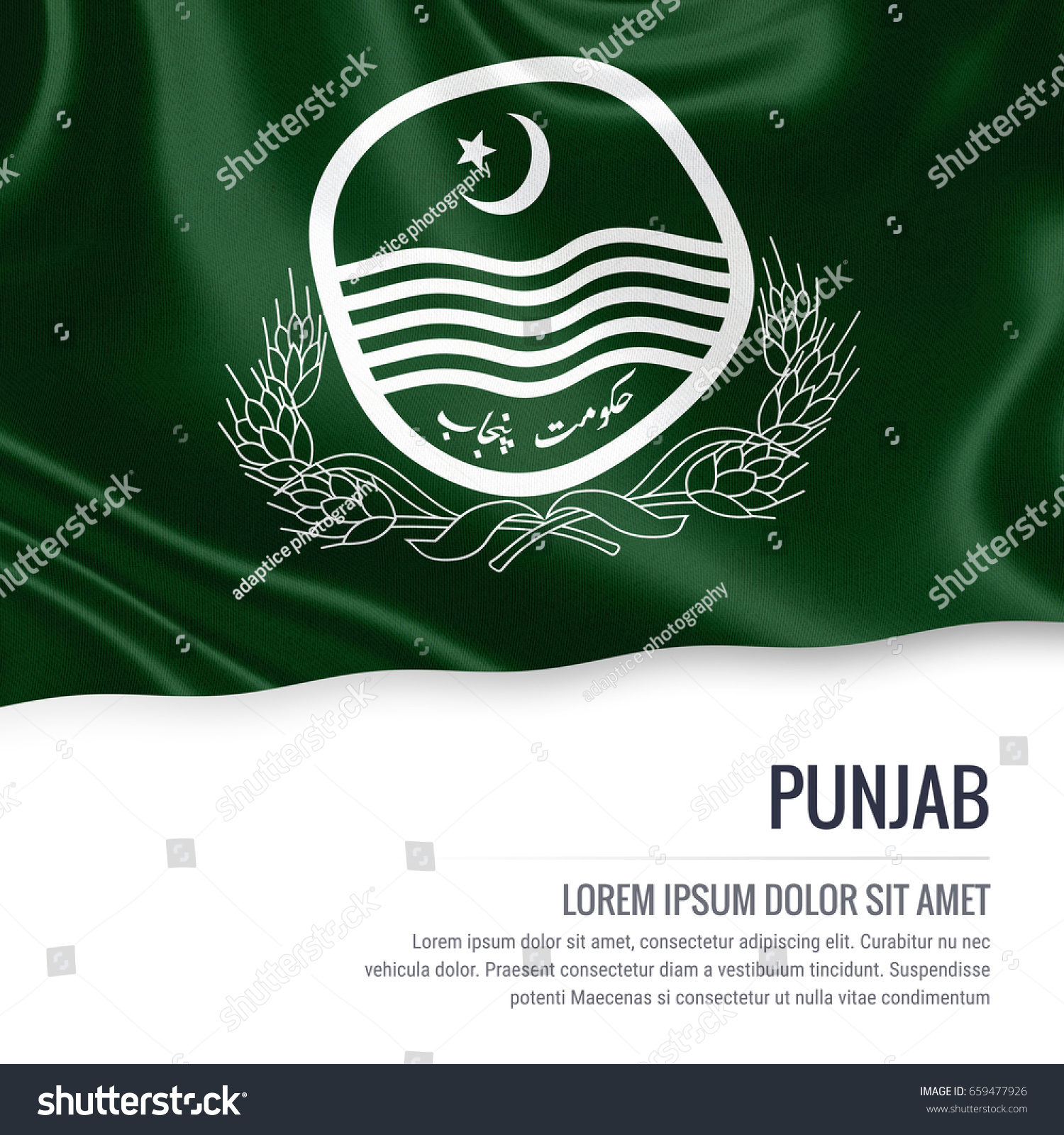 Pakistan state punjab flag waving on stock illustration 659477926 pakistan state punjab flag waving on an isolated white background state name and the text buycottarizona Gallery