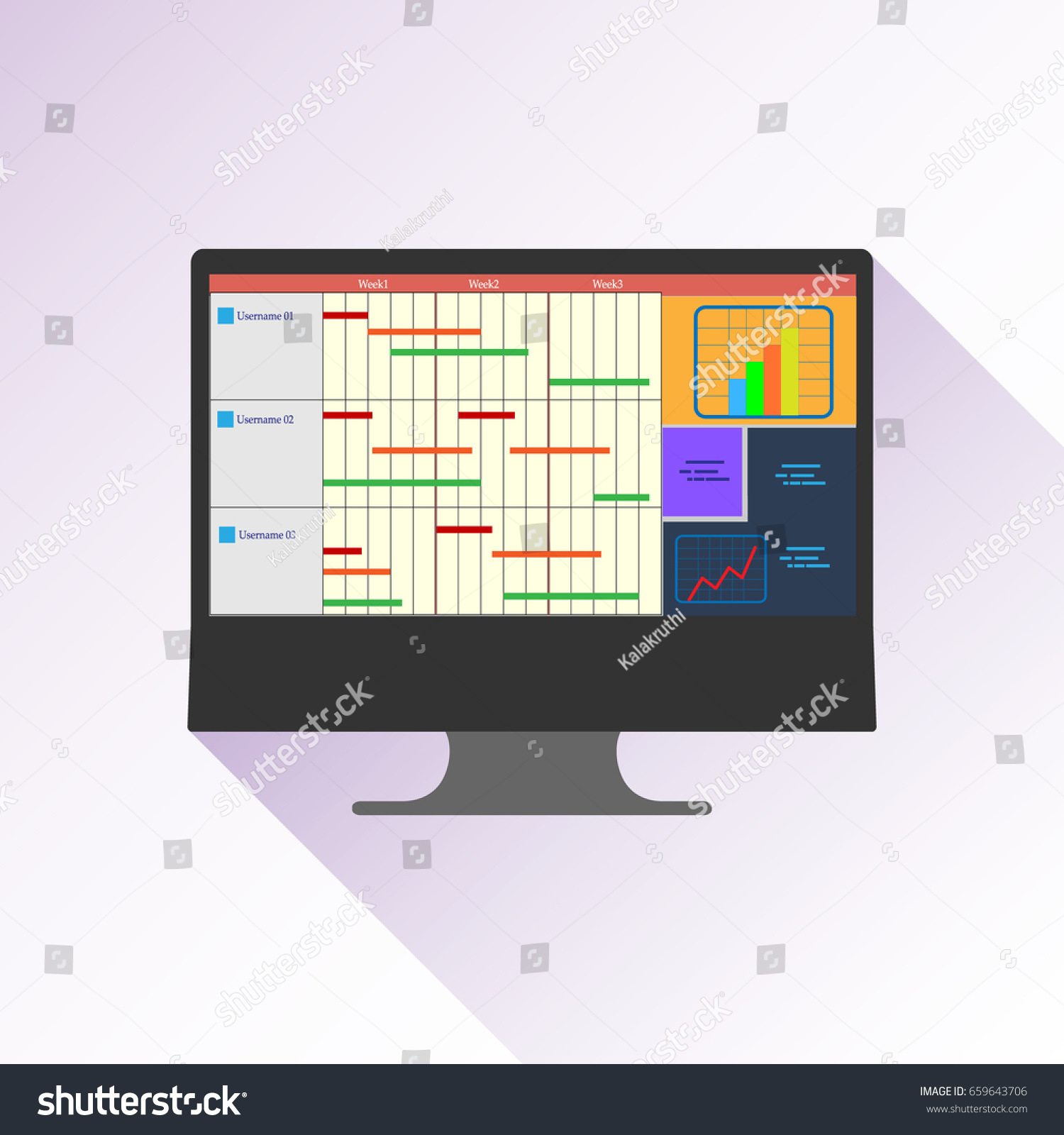 Illustration gantt chart used project management stock vector illustration of a gantt chart used in project management one of the most popular nvjuhfo Images