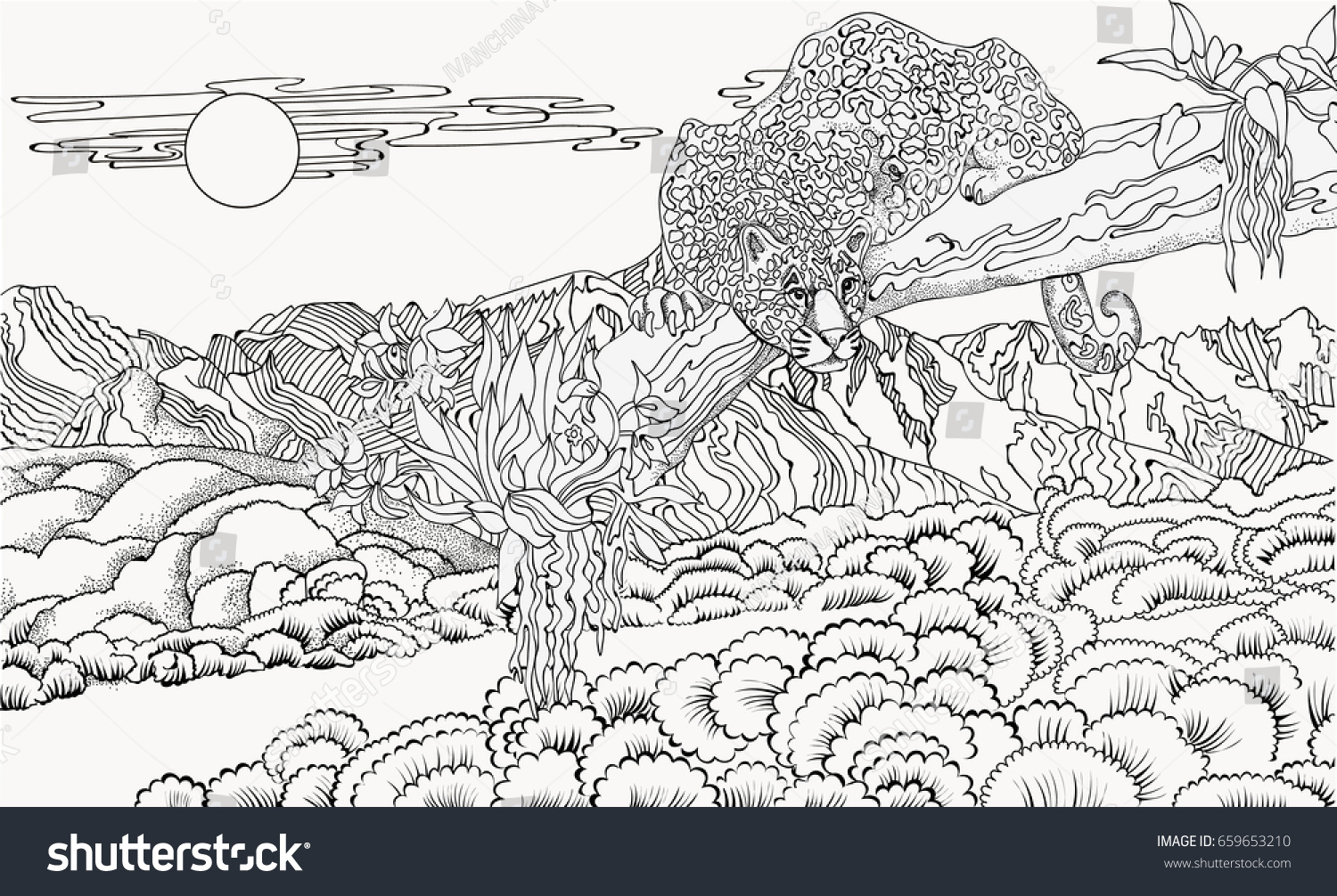 89 nature coloring pages mountain landscape click