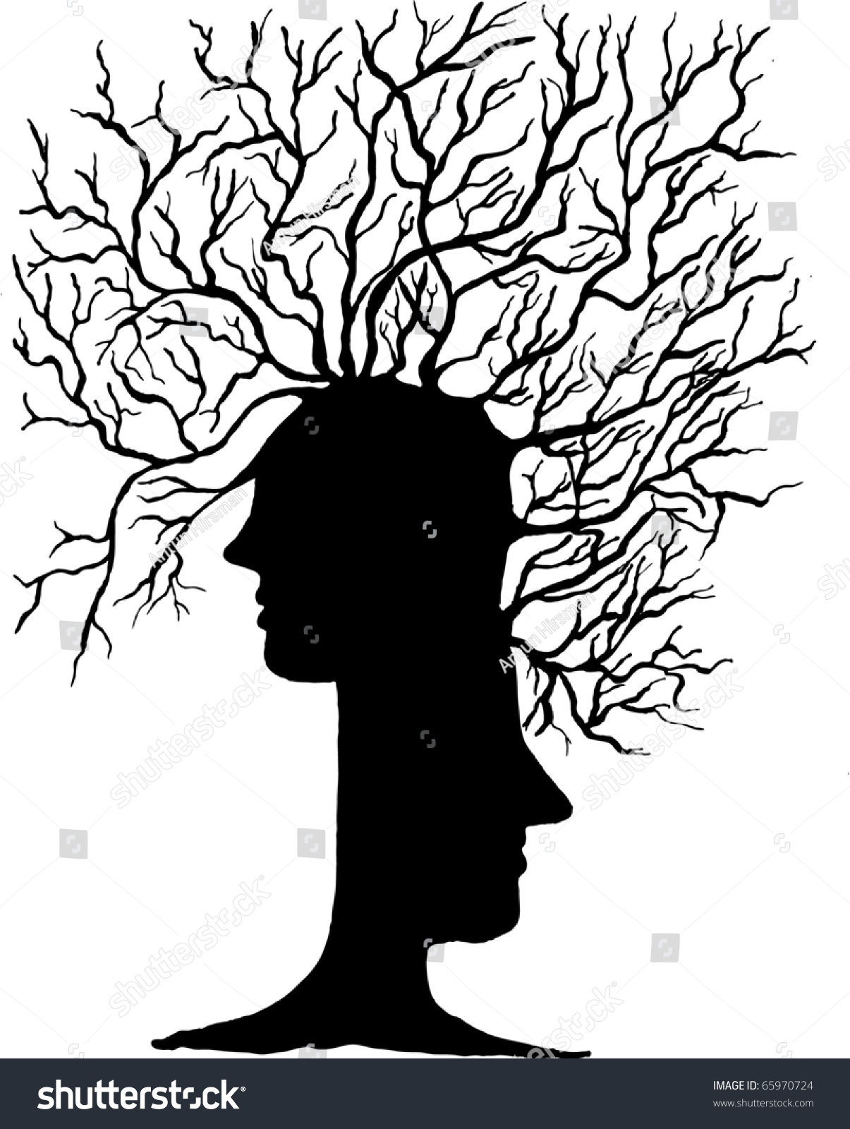 abstract tree heads vector illustration stock vector 65970724