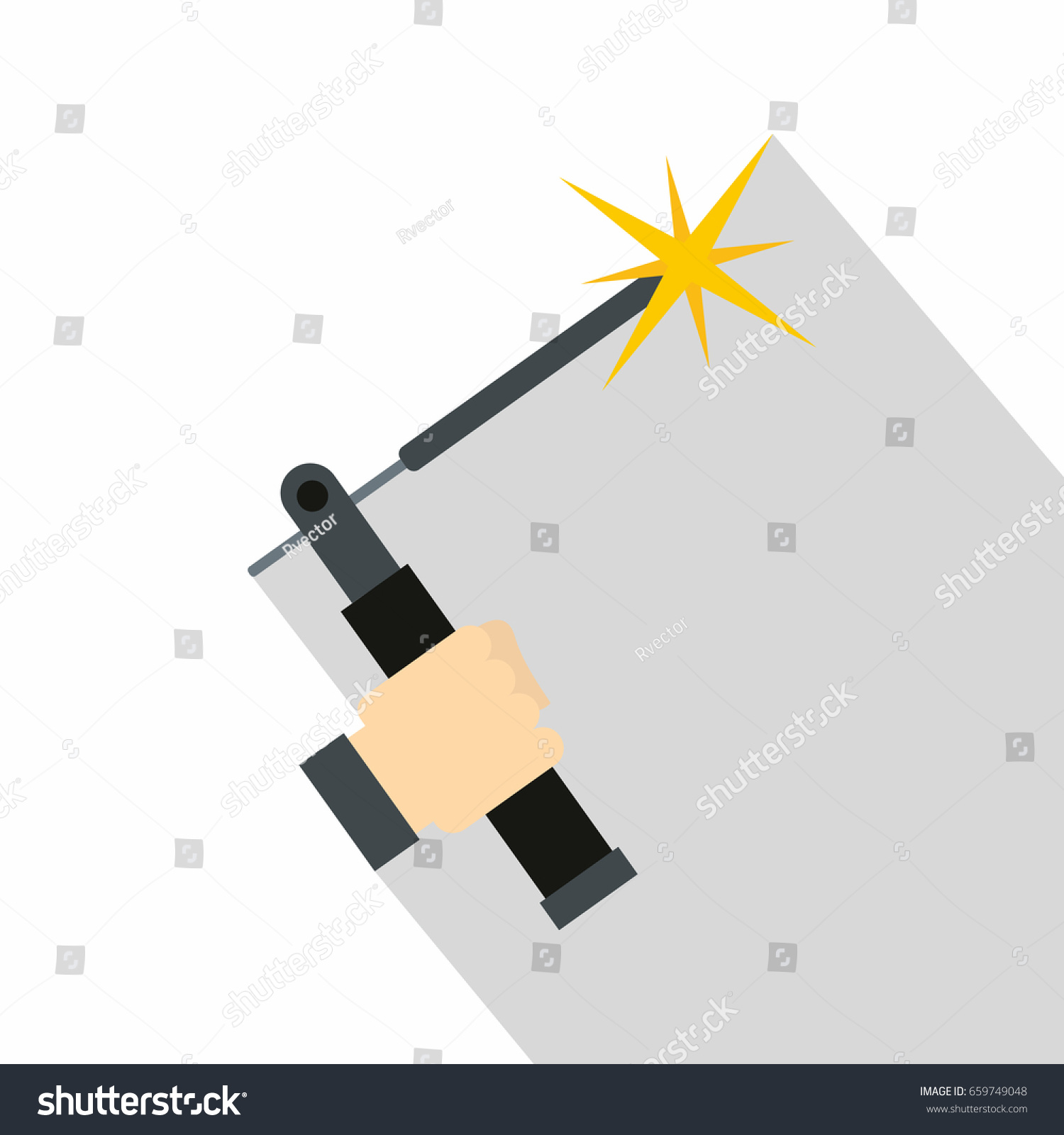 Mig Welding Torch Hand Icon Flat Stock Illustration 659749048 Diagram In Of