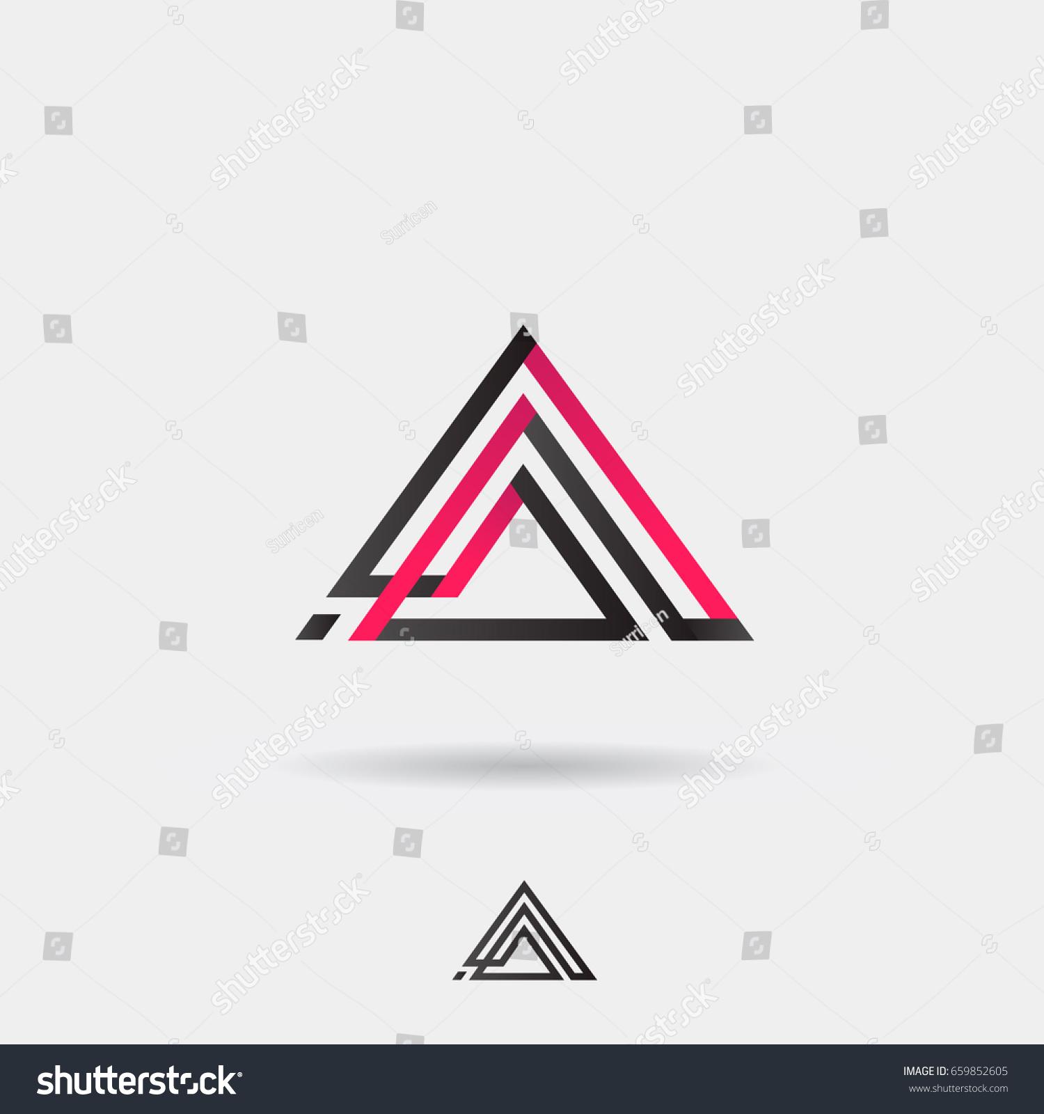Creative Modern Pyramid Logo Triangle Shape Stock Vector 659852605 ...