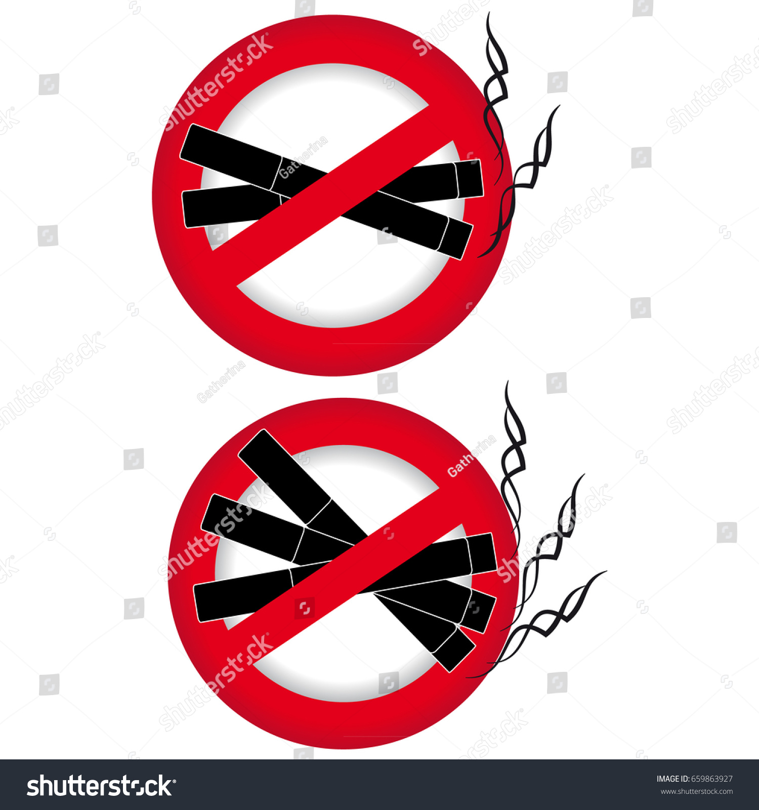 No smoking symbol on white background stock vector 659863927 no smoking symbol on white background vector illustration buycottarizona Images