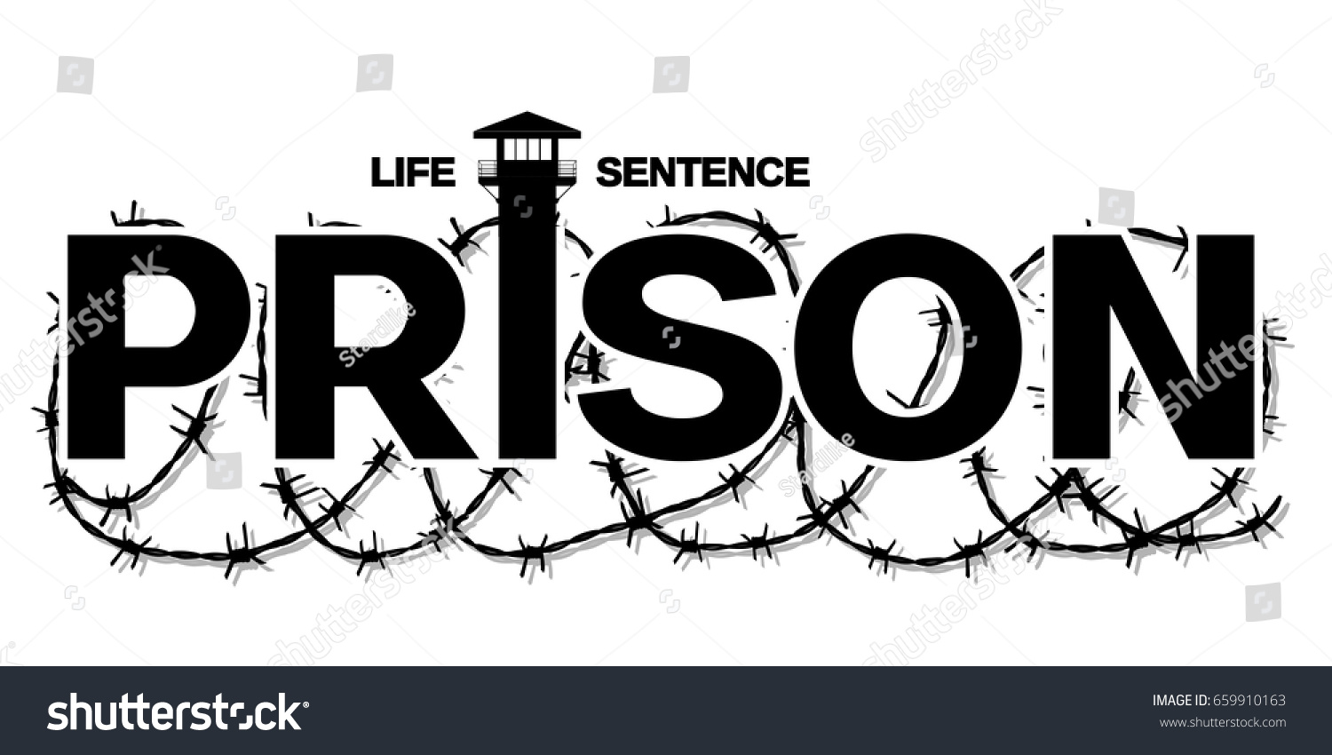 Prison Black Vector Barbed Wire Tattoo Stock Vector 659910163 ...
