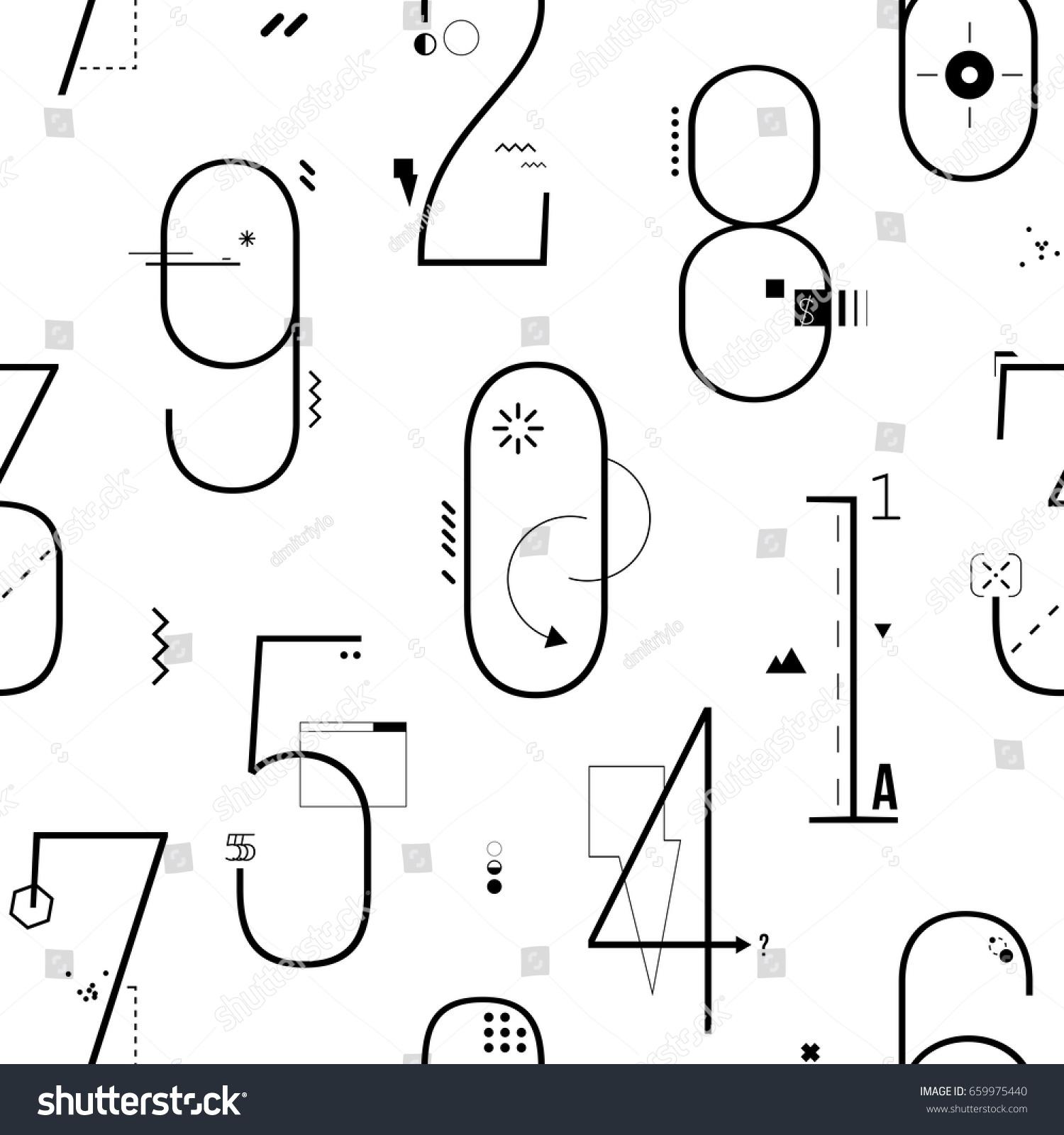 Geometric Thin Line Art Flat Style Stock Vector Shutterstock