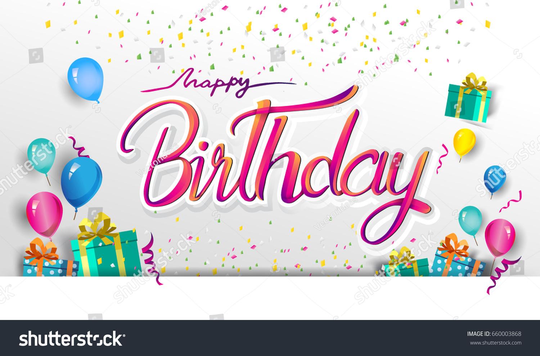 Happy birthday typography vector design greeting stok vektr happy birthday typography vector design greeting stok vektr 660003868 shutterstock m4hsunfo