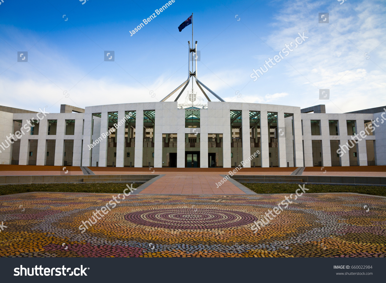 This Australian Parliament House Canberra Which Foto de stock ...