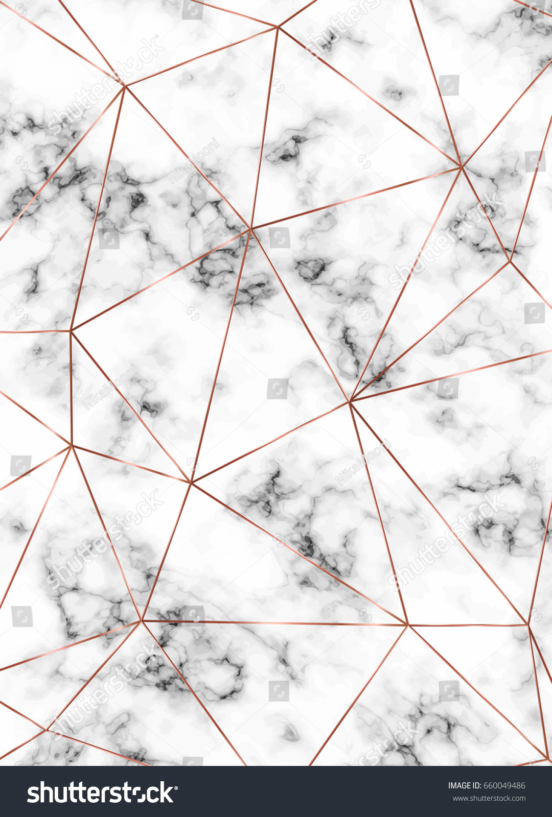 Vector Marble Background Copper Triangles Geometric Stock ...