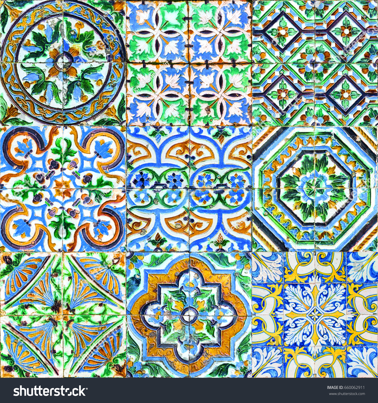 Andalusian Tile Patterns Spain Stock Photo (Royalty Free) 660062911 ...