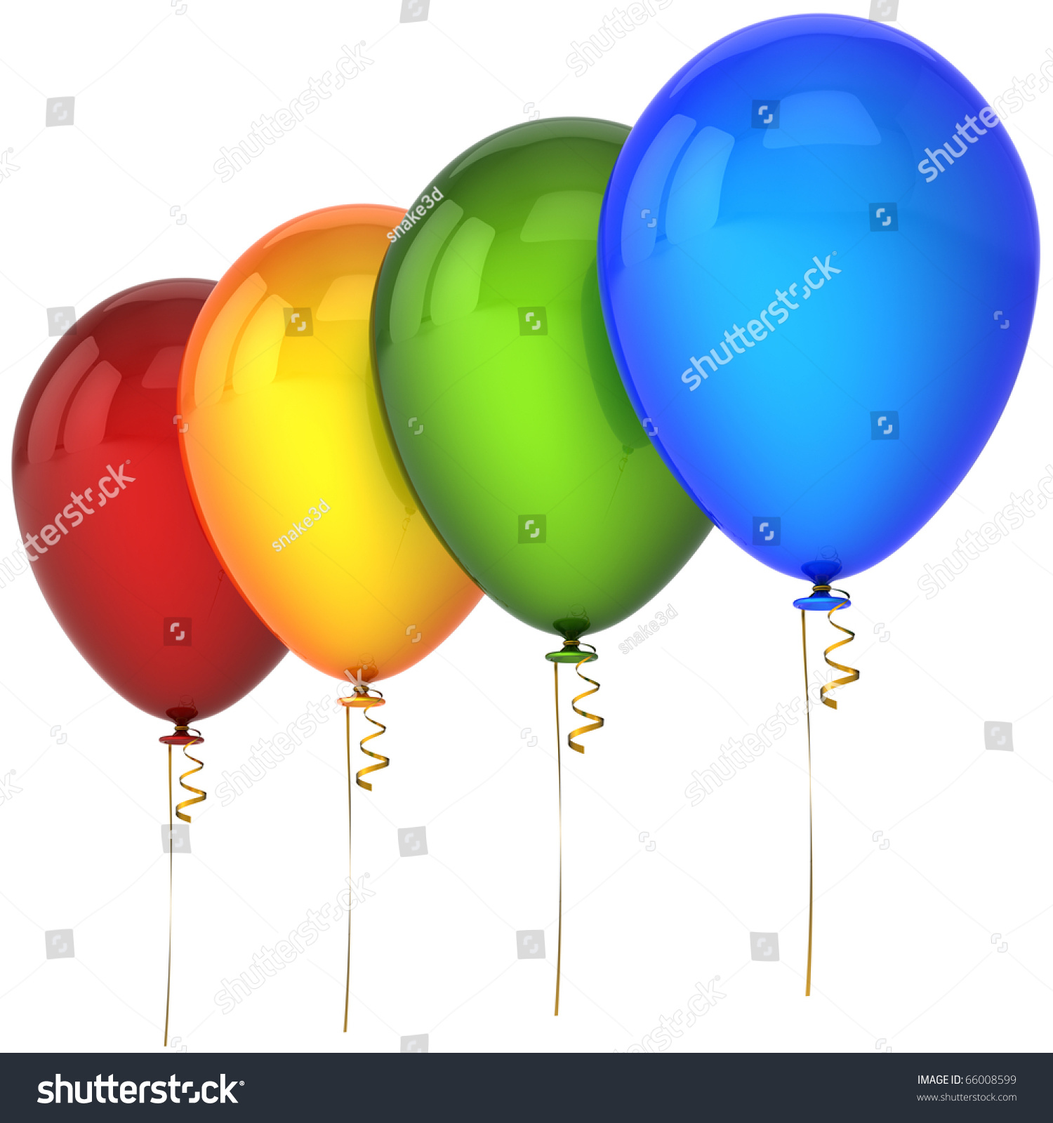 Green and blue balloons - Party Birthday Balloons Red Orange Green Blue Four 4 Helium Balloon Decoration Blank New Year S Eve