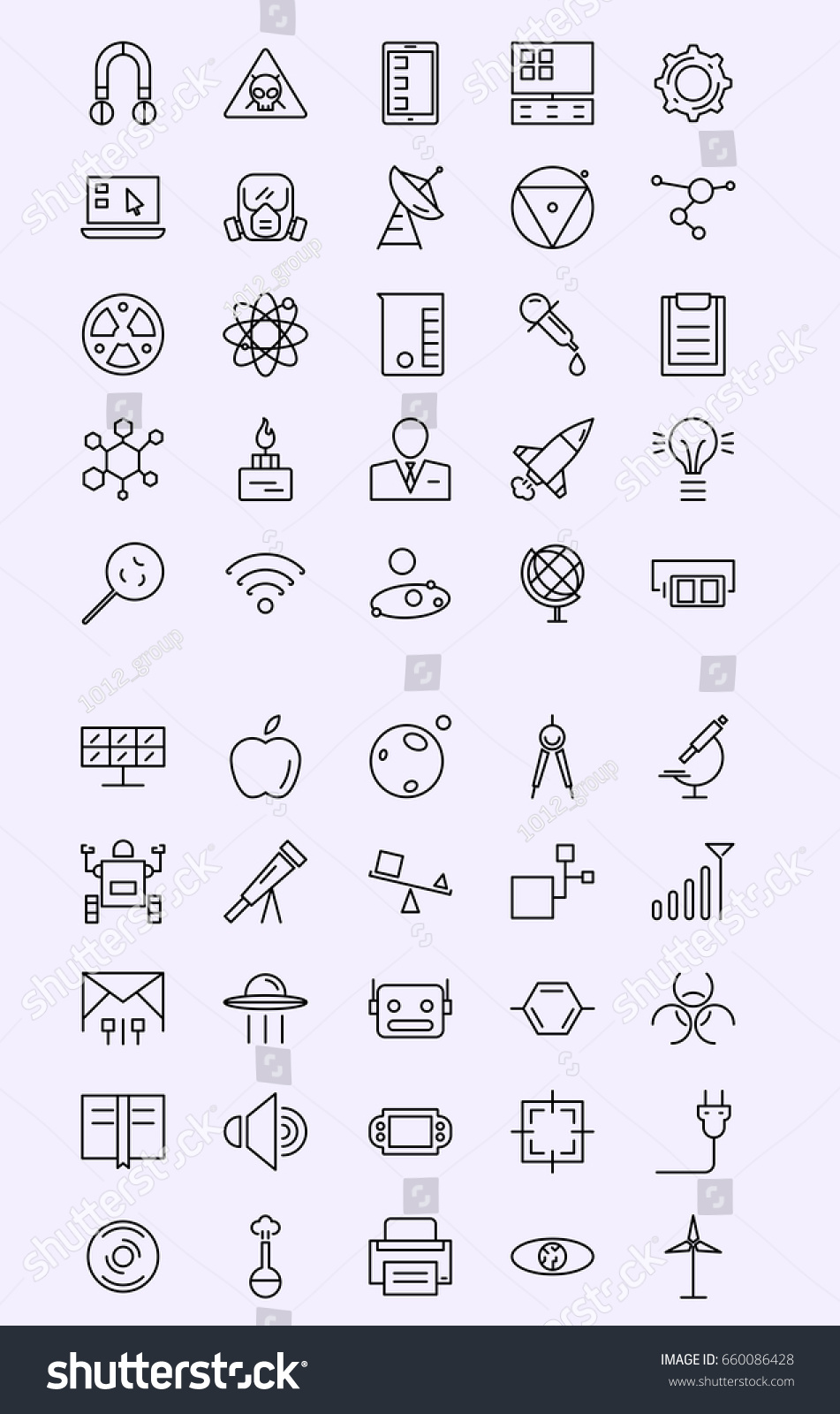 Technology Icon Line Icon Mobile Icon Stock Vector Royalty Free