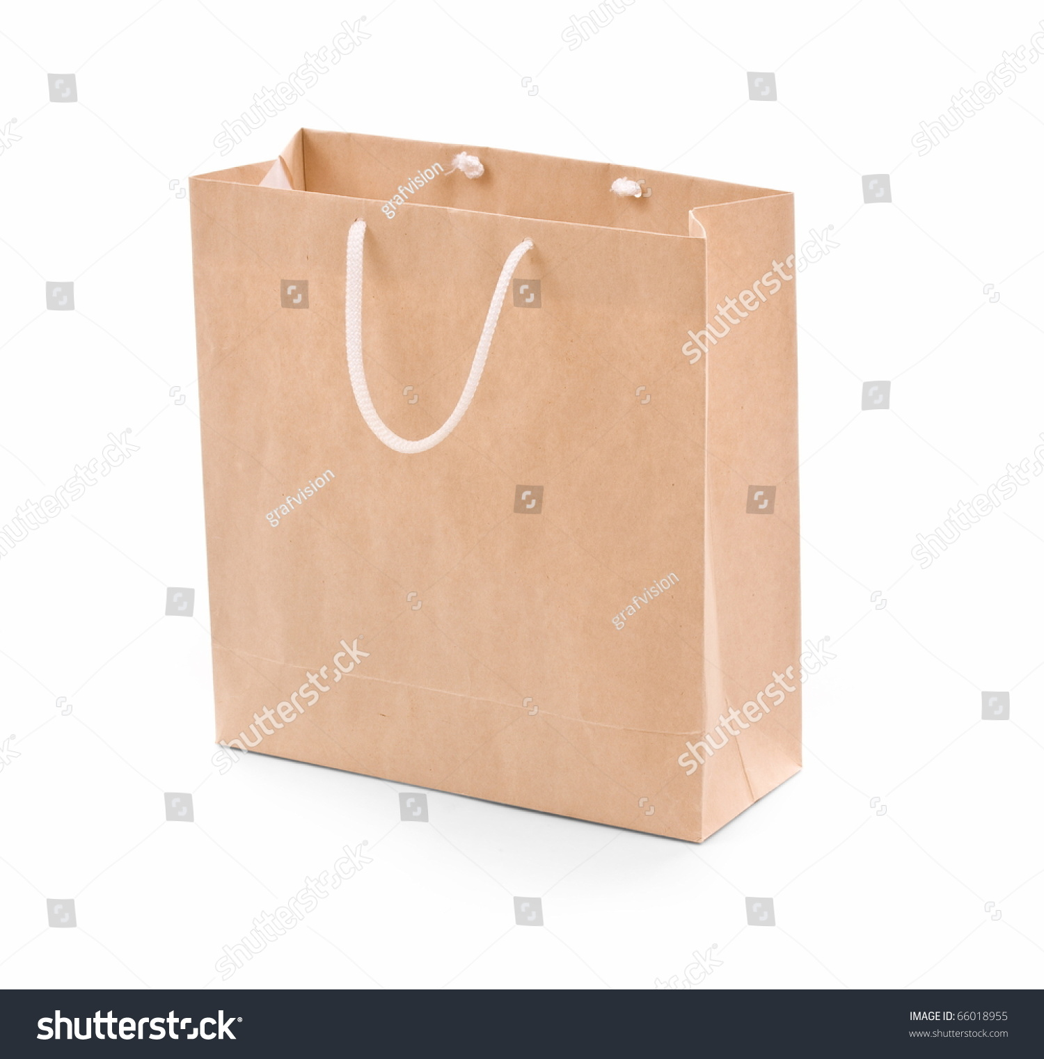 Shopping Bag Made From Brown Recycled Paper. Add Your Own Design ...