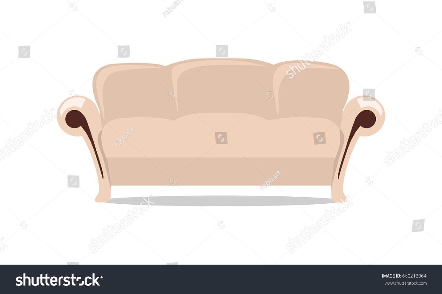 comfortable leather couch 1980 leather sofa in flat style design classic comfortable leather couch illustration for apartment interior design flat style design classic comfortable stock illustration