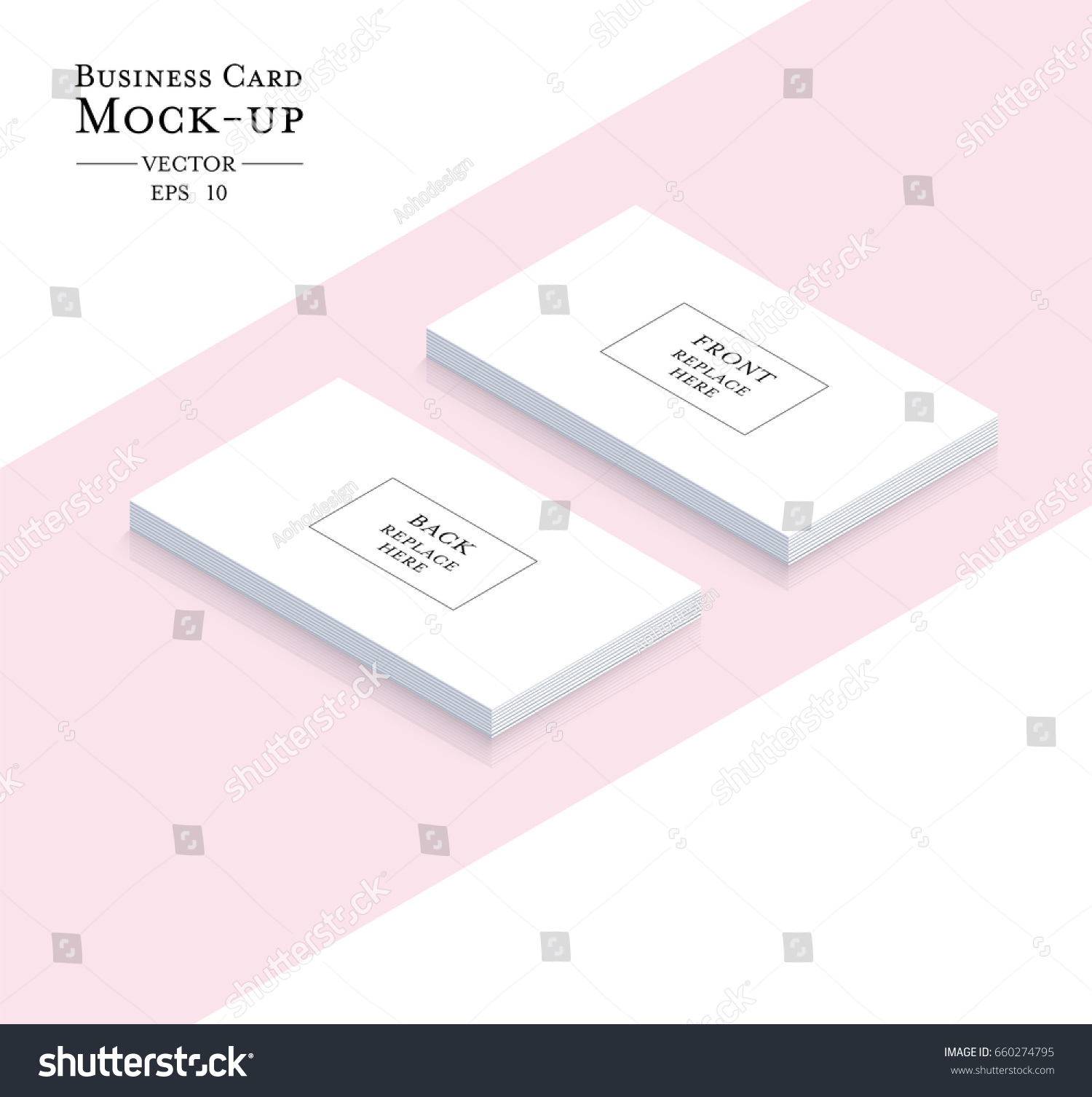 Business Cards Blank Mockup Template Vector Stock Vector (2018 ...