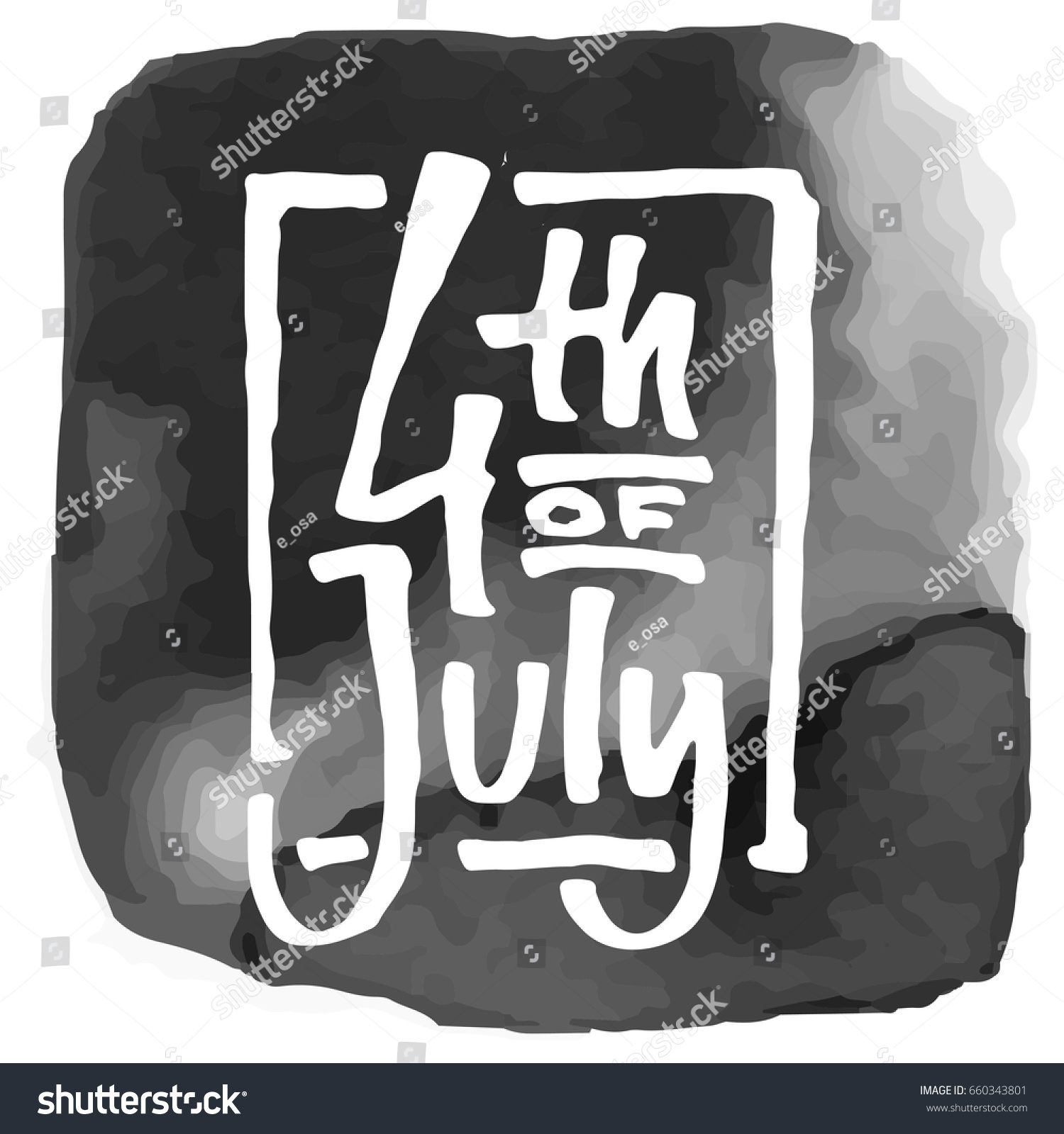 a72d6771f10a Happy Independence Day 4 th of July in USA. Lettering for postcards