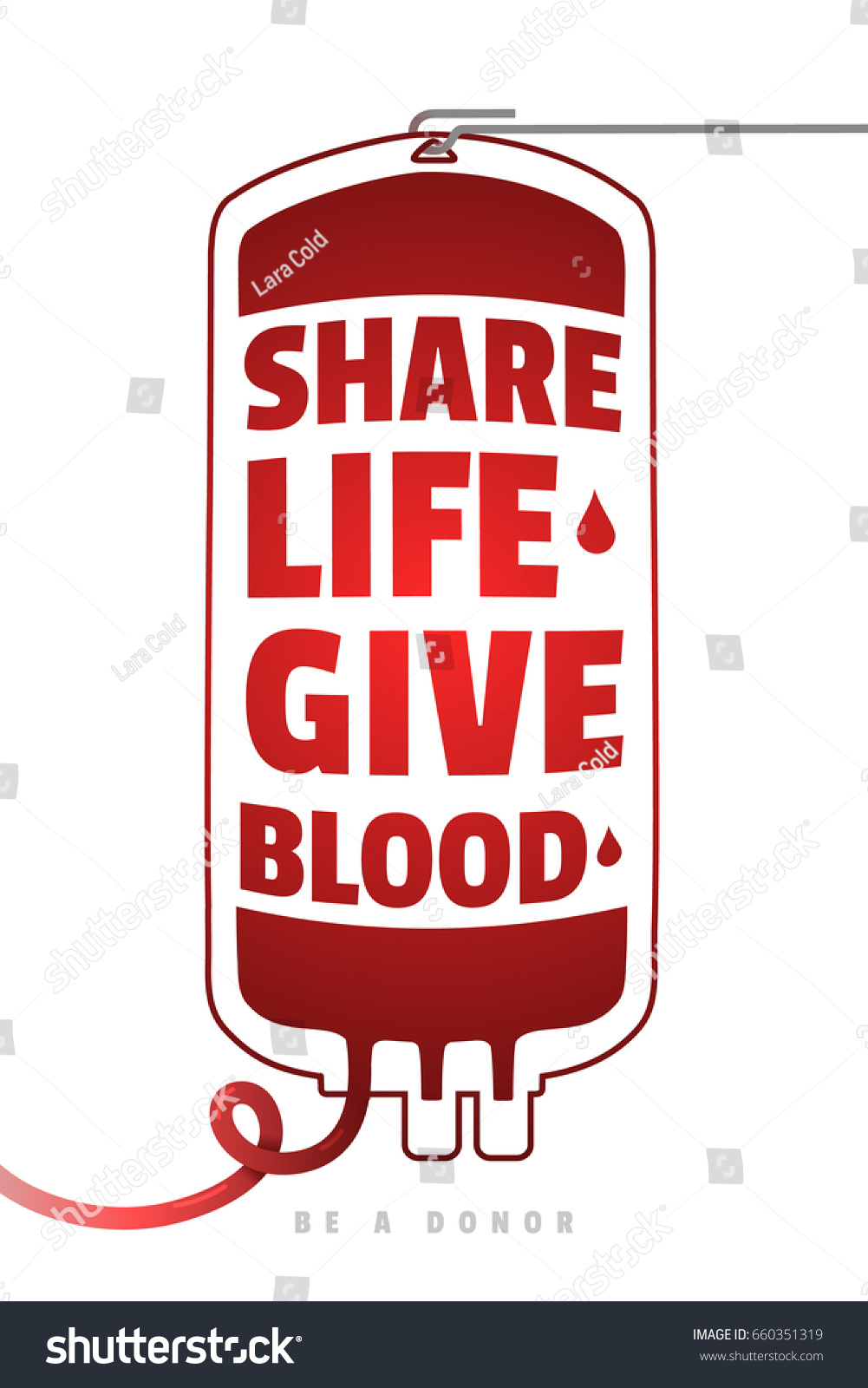be donor blood donation motivational poster stock vector royalty