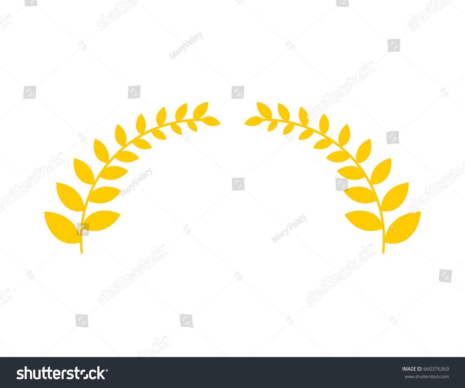 Olive Branch Is Golden Wreath Symbol Of Victory Accessory For