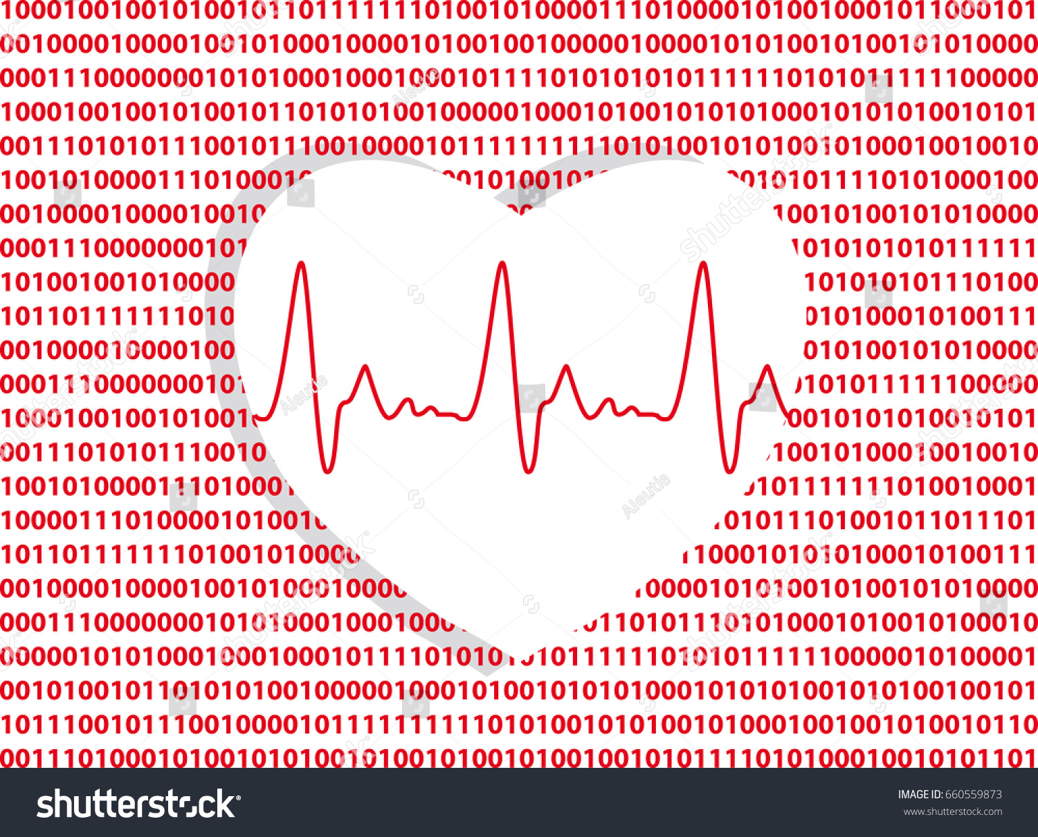 Heart symbol on computer code background stock vector 660559873 heart symbol on a computer code background as a metaphor for digital technology in medicine buycottarizona Choice Image