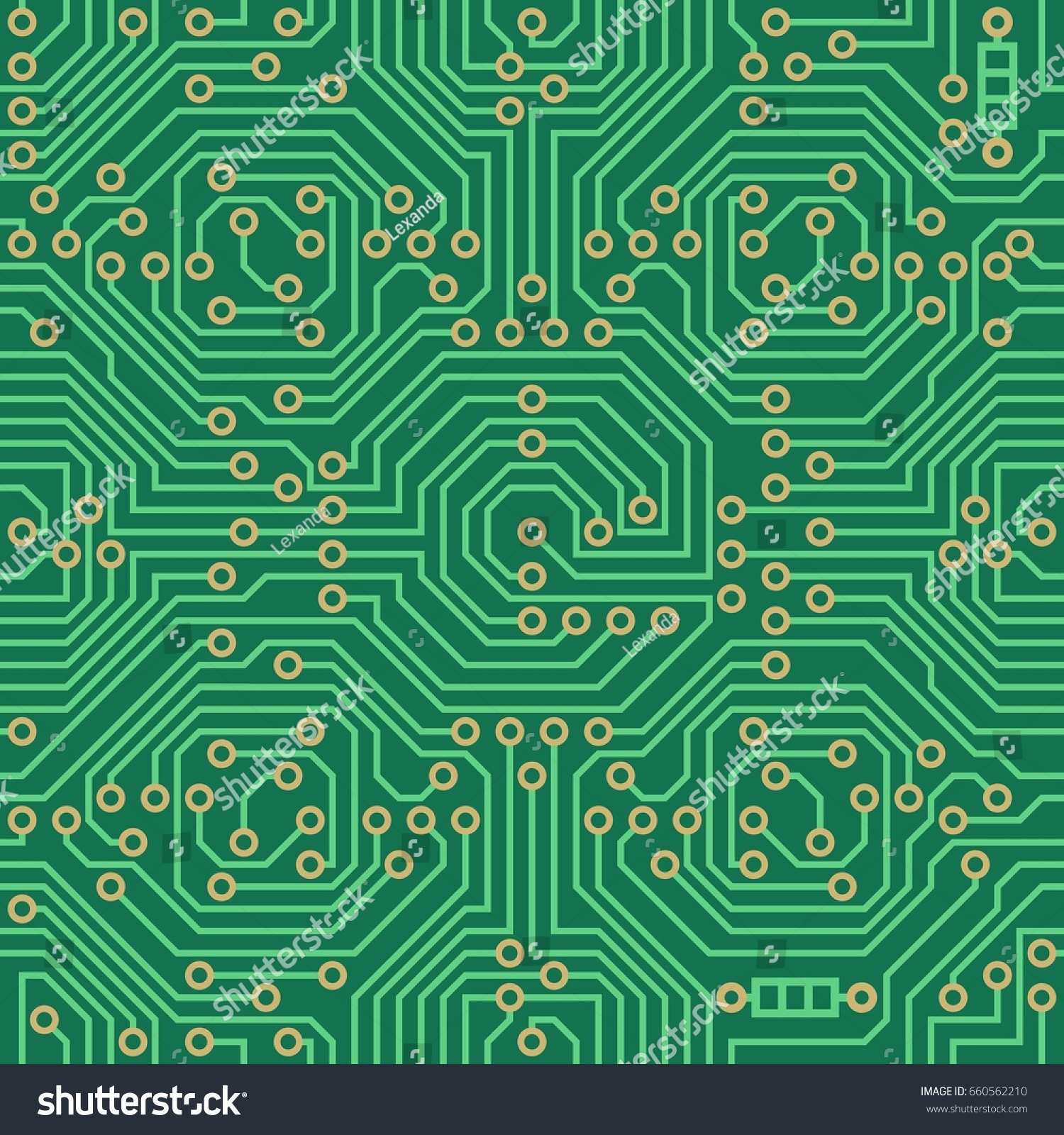 Abstract Vector Background High Tech Printed Stock Royalty Detail Of A Circuit Board Free Image With Microchip Seamless Pattern