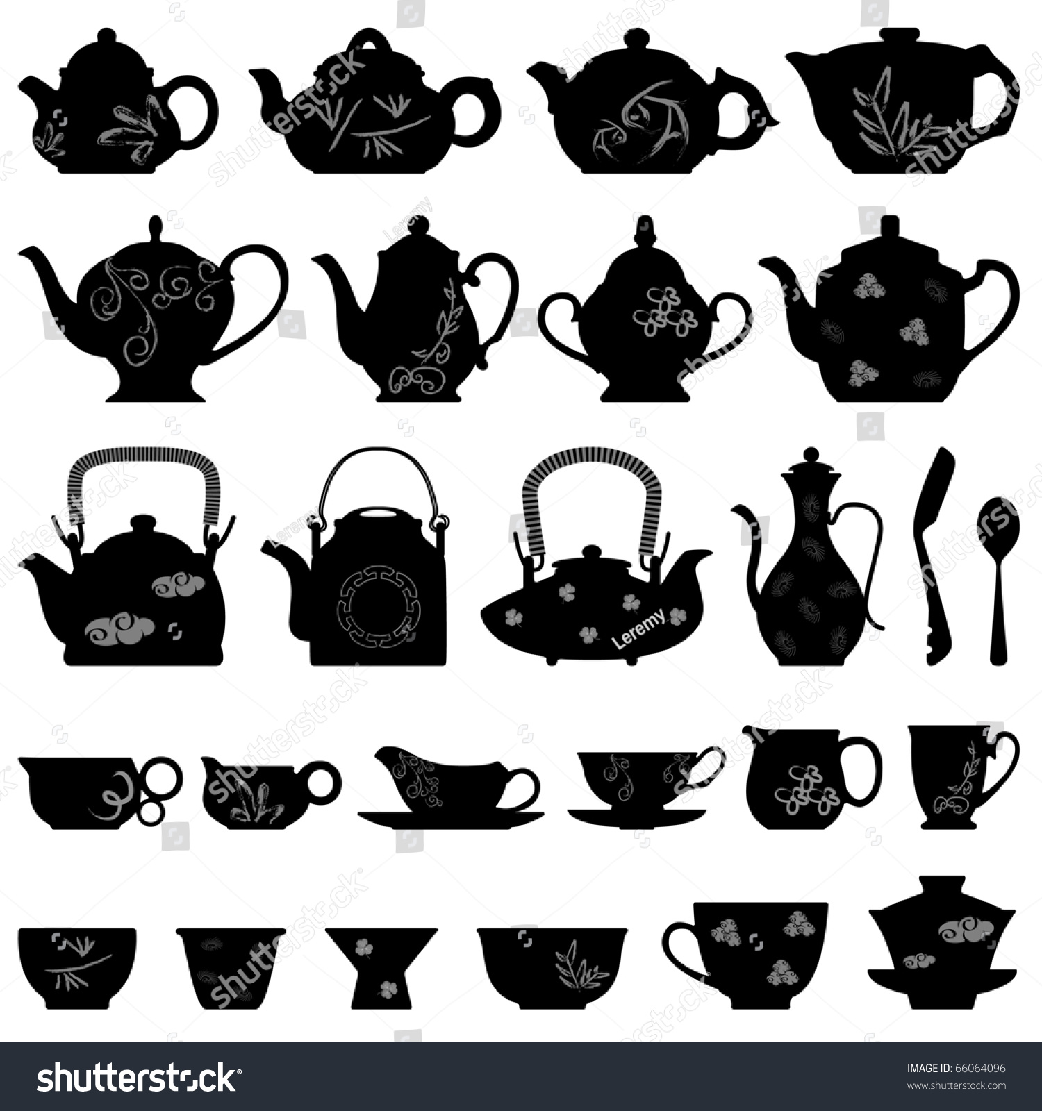 Tea Teapot Cup Chinese Japanese Asian Oriental Stock ...