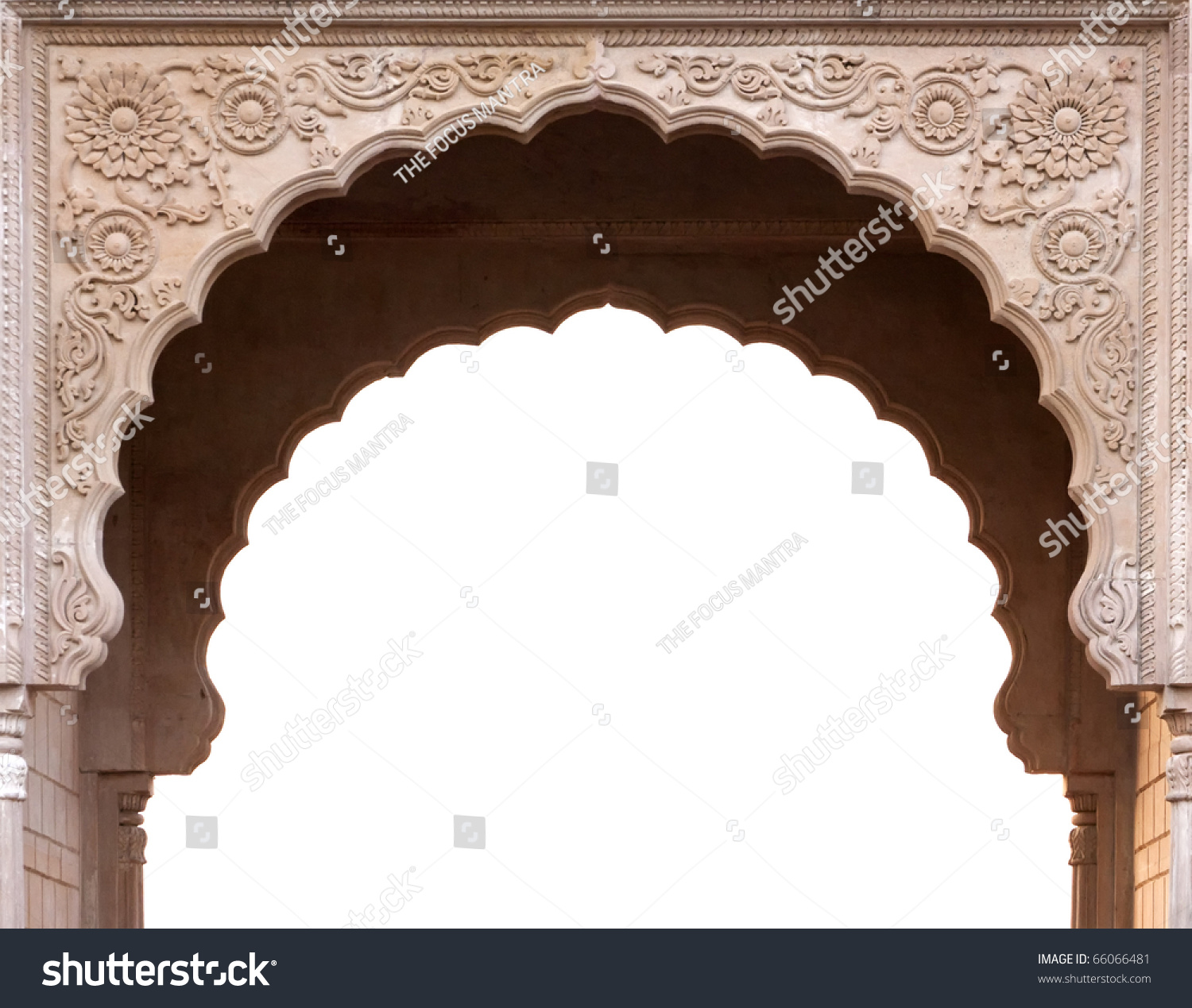 Temple arch entrance india stock photo safe to use 66066481 temple arch entrance in india thecheapjerseys Images