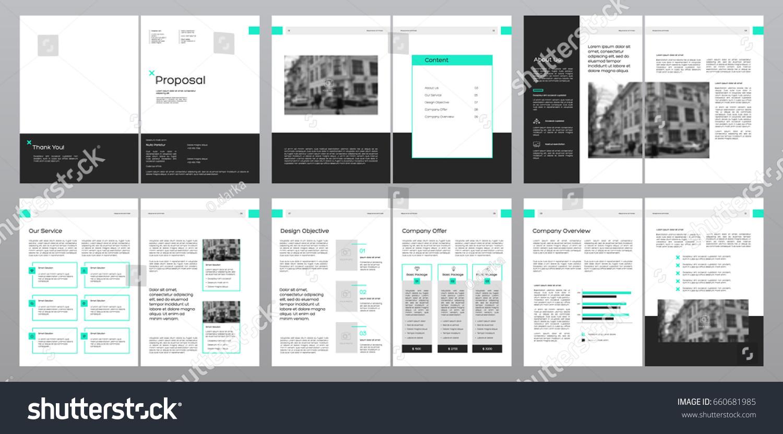 design proposal vector template brochures flyers のベクター画像素材