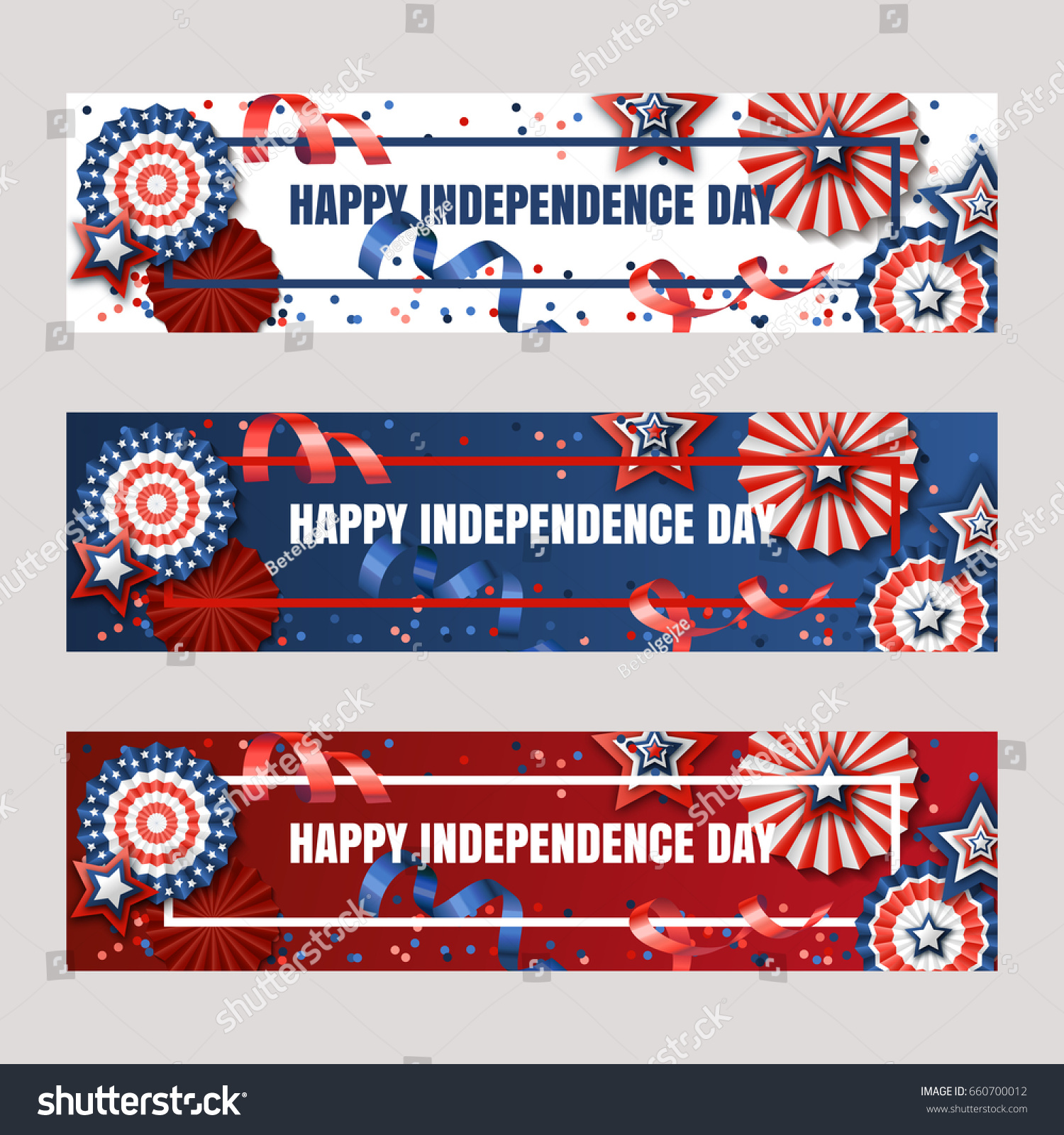 happy 4th july usa independence day stock vector 660700012