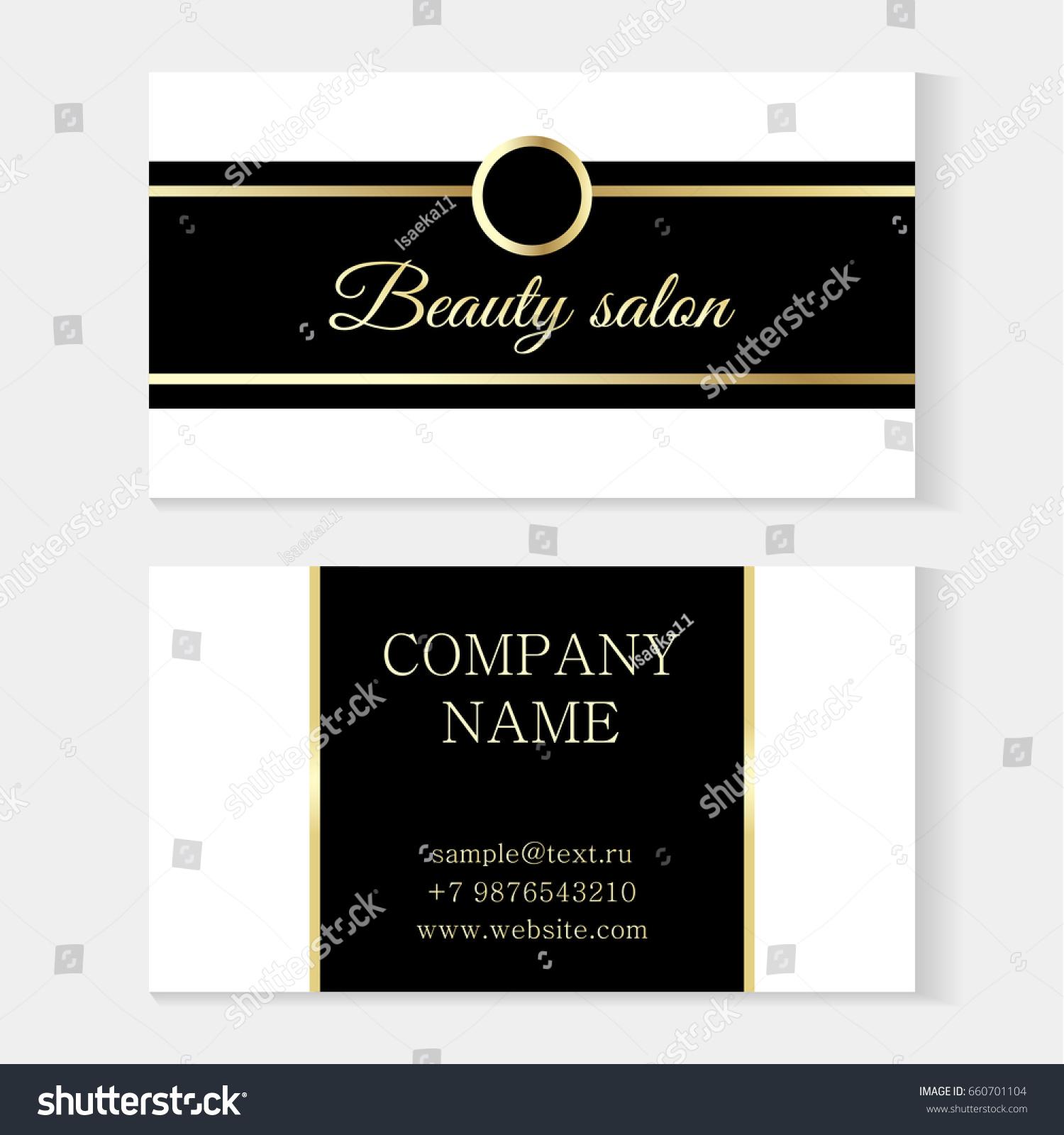 Stylish Beauty Salon Template Business Card Stock Vector 660701104 ...