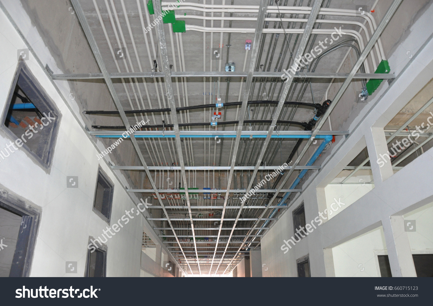 Metal Conduit Upvc White Pipe Electrical Stock Photo Edit Now Plastic Through Which Wires Are Run This And For Wiring Black Polyethylene Clean Water