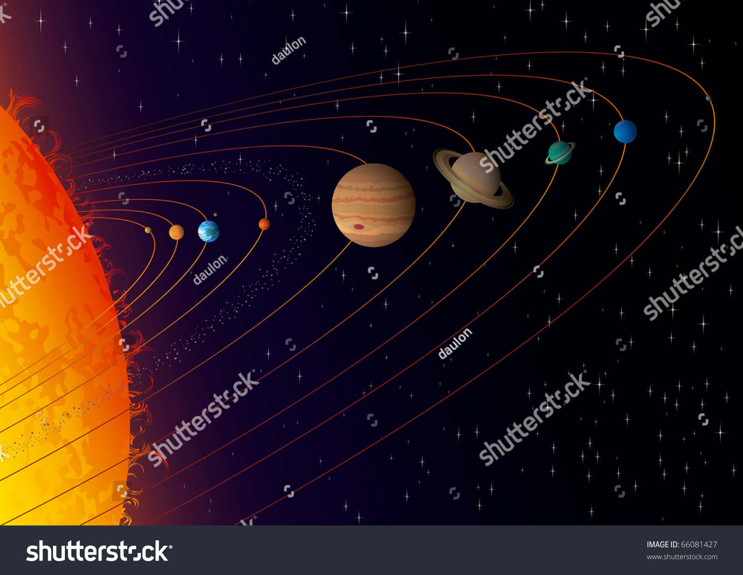 Our solar system full compatible created stock vector 66081427 our solar system full compatible created with gradients sciox Choice Image