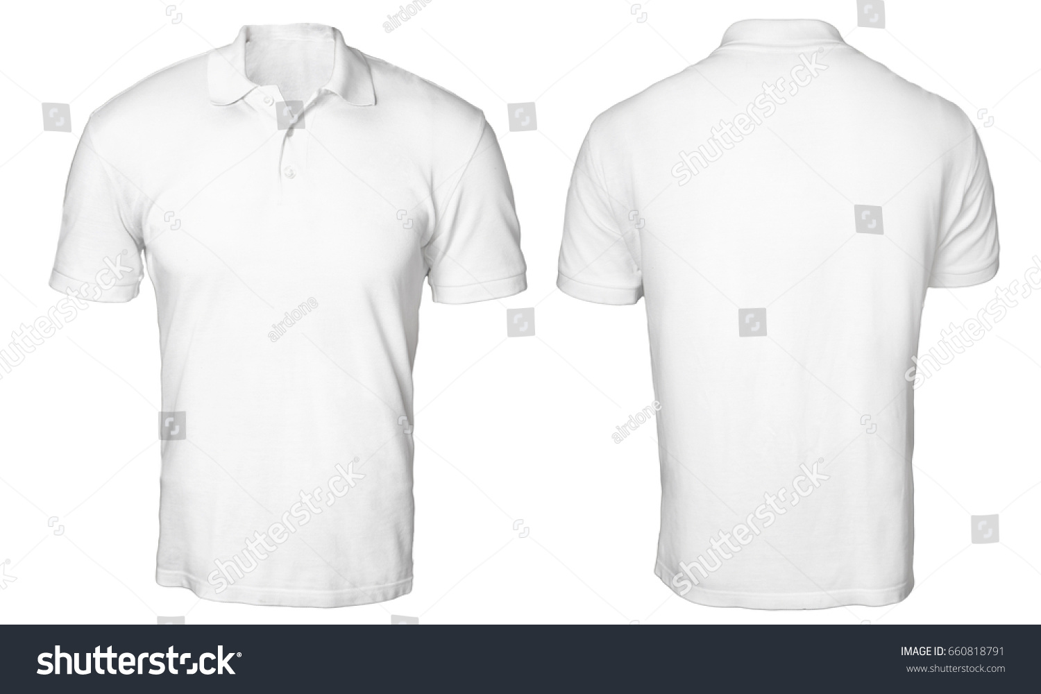 Blank Polo Shirt Mock Template Front Stock Photo Edit Now