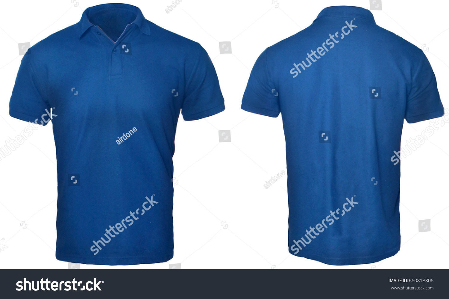 T shirt plain white front and back - Blank Polo Shirt Mock Up Template Front And Back View Isolated On White