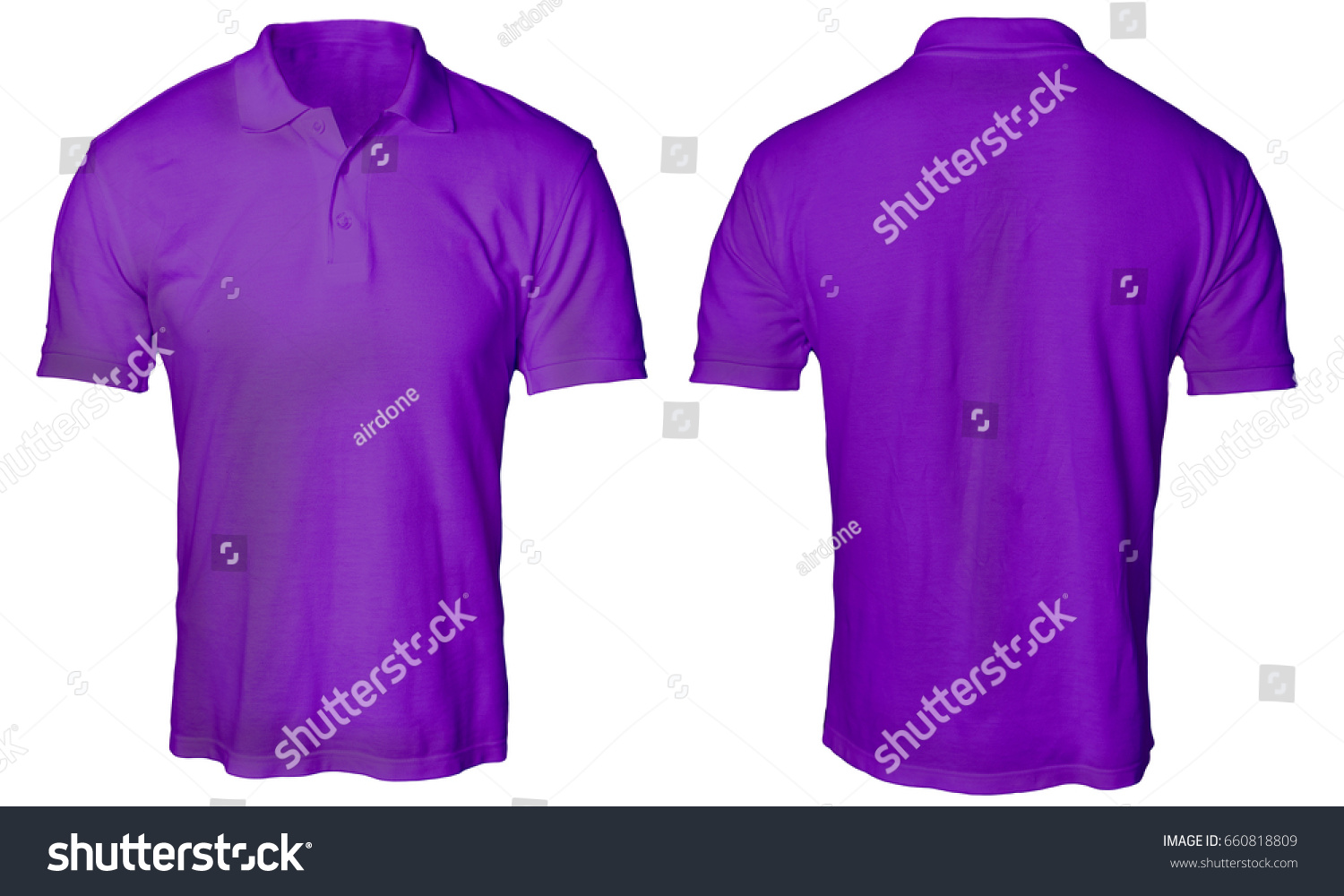 Blank Polo Shirt Mock Template Front Stock Photo (Download Now ...