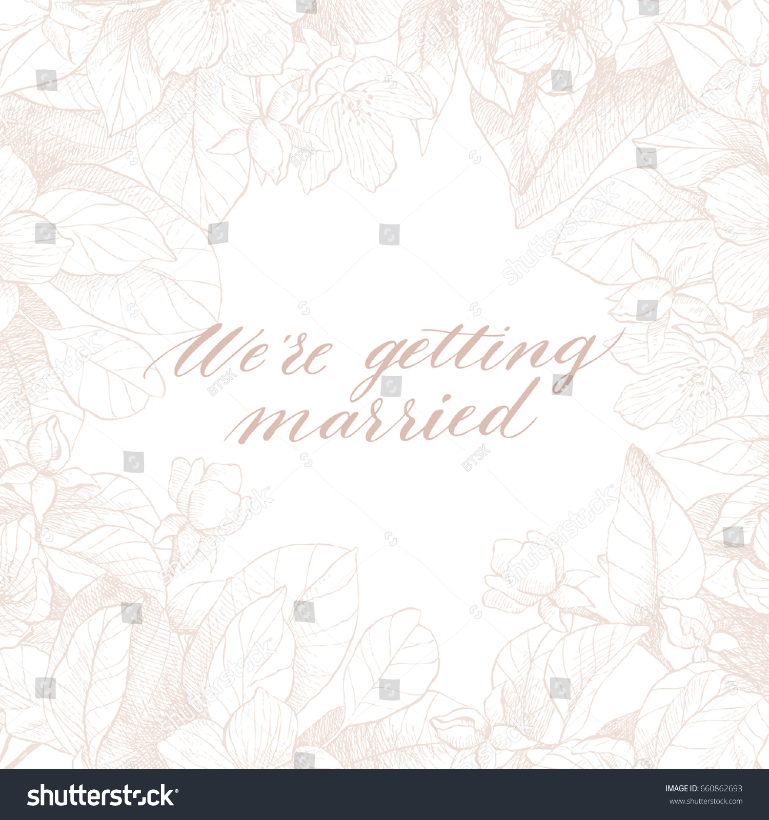 Hand Drawing Vector Were Getting Married Stock Vector (Royalty Free