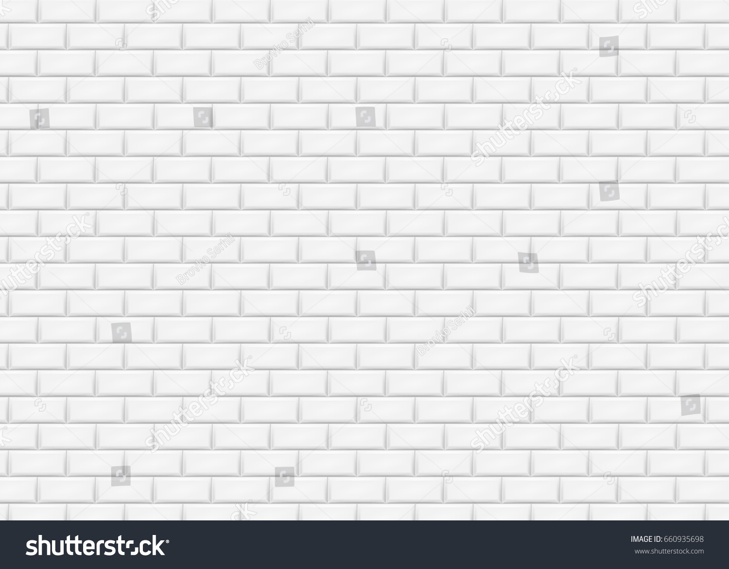 White brick wall subway tile pattern stock vector 660935698 white brick wall in subway tile pattern vector illustration eps 10 dailygadgetfo Gallery