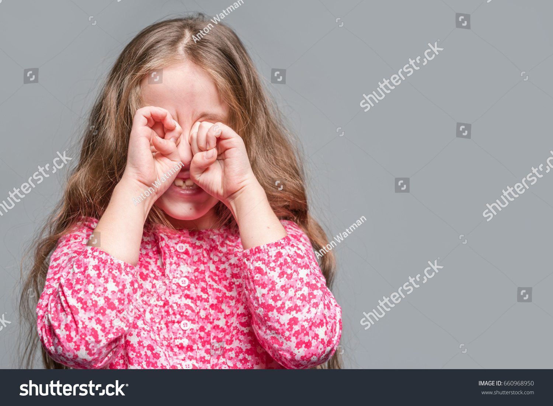 Cute Little Girl Red Dress Covers Stock Photo 660968950 - Shutterstock