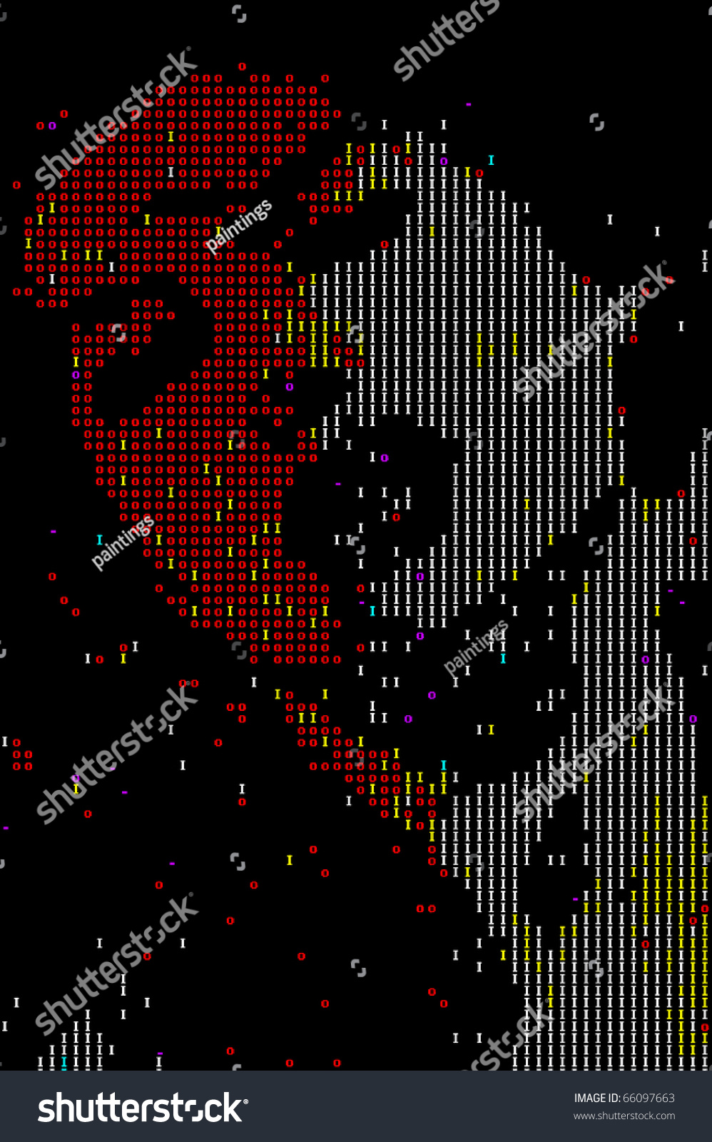 One Line Ascii Art Eyes : Nerdy computer ascci generated woman face stock vector