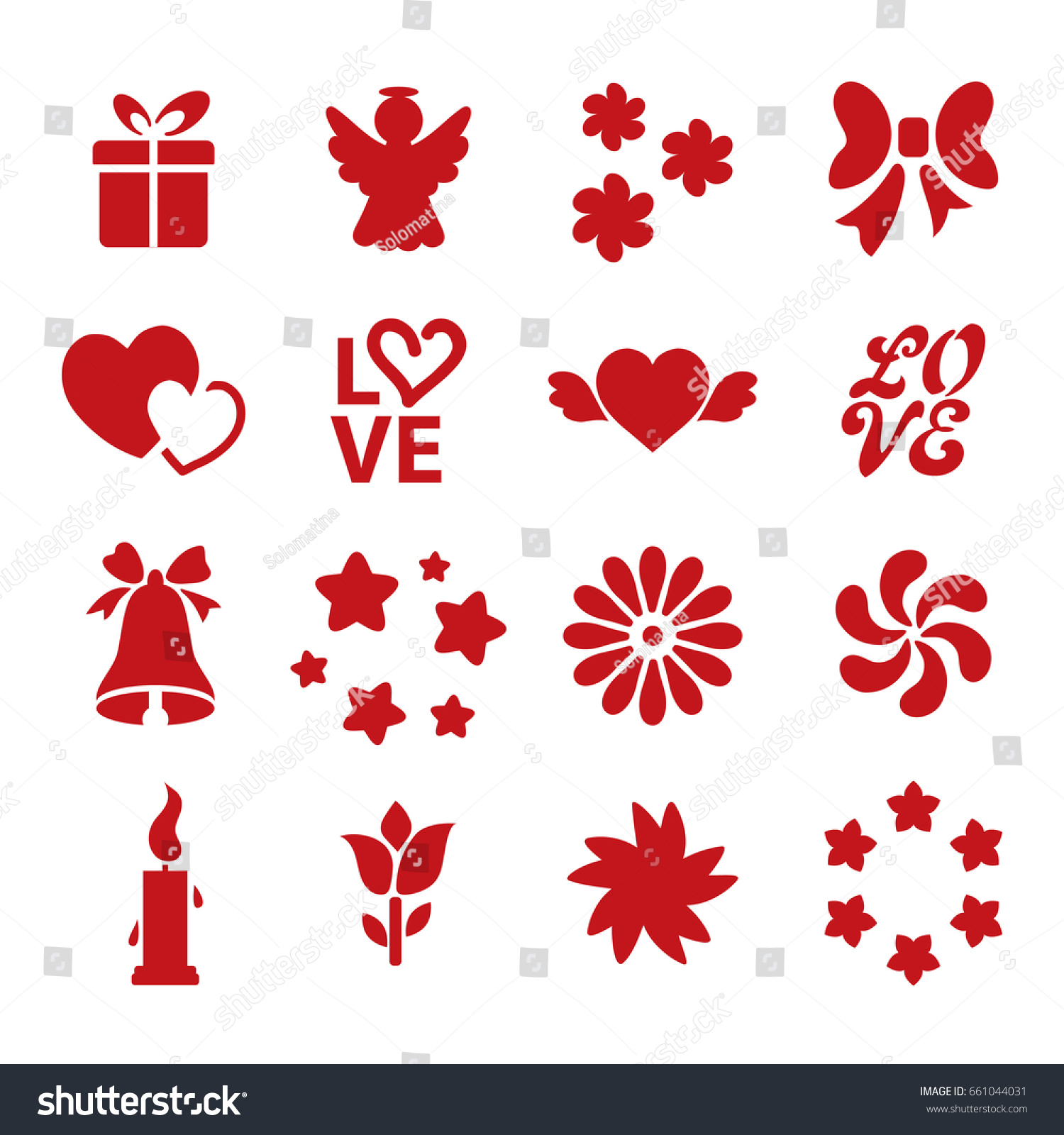 Uncategorized Valentine Stencils set icon valentines day stencils vector stock 661044031 of collection template silhouettes heart